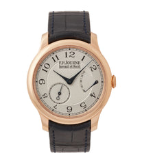 buy F. P. Journe Chronometre Souverain silver dial rose gold dress watch for sale online at A Collected Man London UK specialist of independent watchmakers