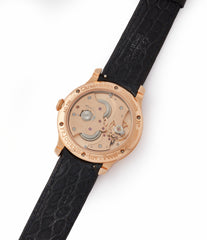 in-house movement F. P. Journe Chronometre Souverain silver dial rose gold dress watch for sale online at A Collected Man London UK specialist of independent watchmakers