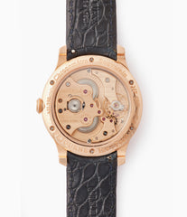 independent watchmaker in-house Cal. 1304 F. P. Journe Chronometre Souverain silver dial rose gold dress watch for sale online at A Collected Man London UK specialist of independent watchmakers