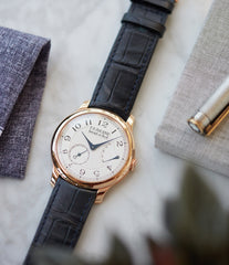 F. P. Journe Chronometre Souverain silver dial rose gold dress watch for sale online at A Collected Man London UK specialist of independent watchmakers