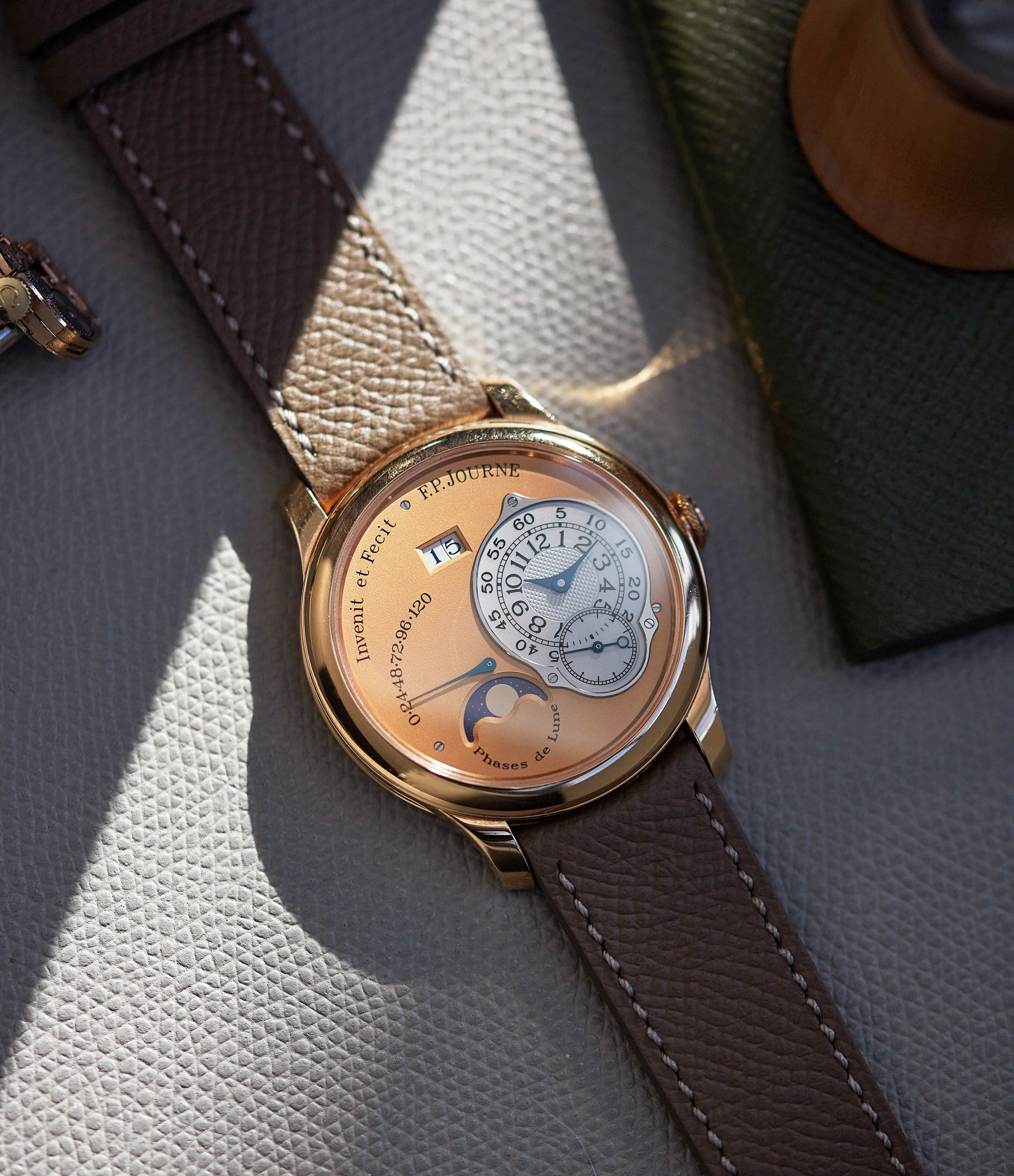 for sale F. P. Journe Octa Lune rose gold dial rare pre-owned watch independent watchmaker for sale online A Collected Man London
