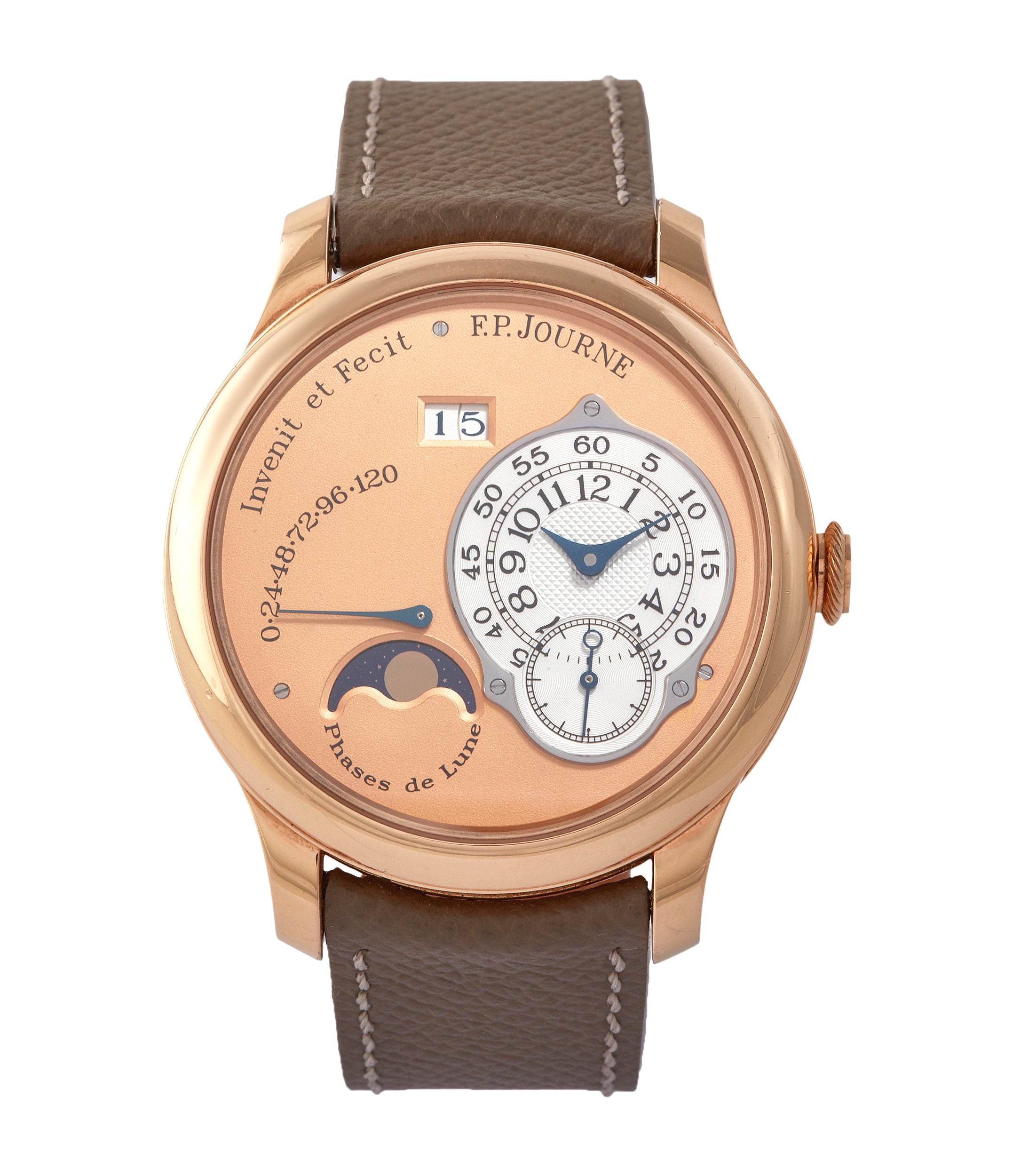 buy F. P. Journe Octa Lune rose gold dial rare pre-owned watch independent watchmaker for sale online A Collected Man London