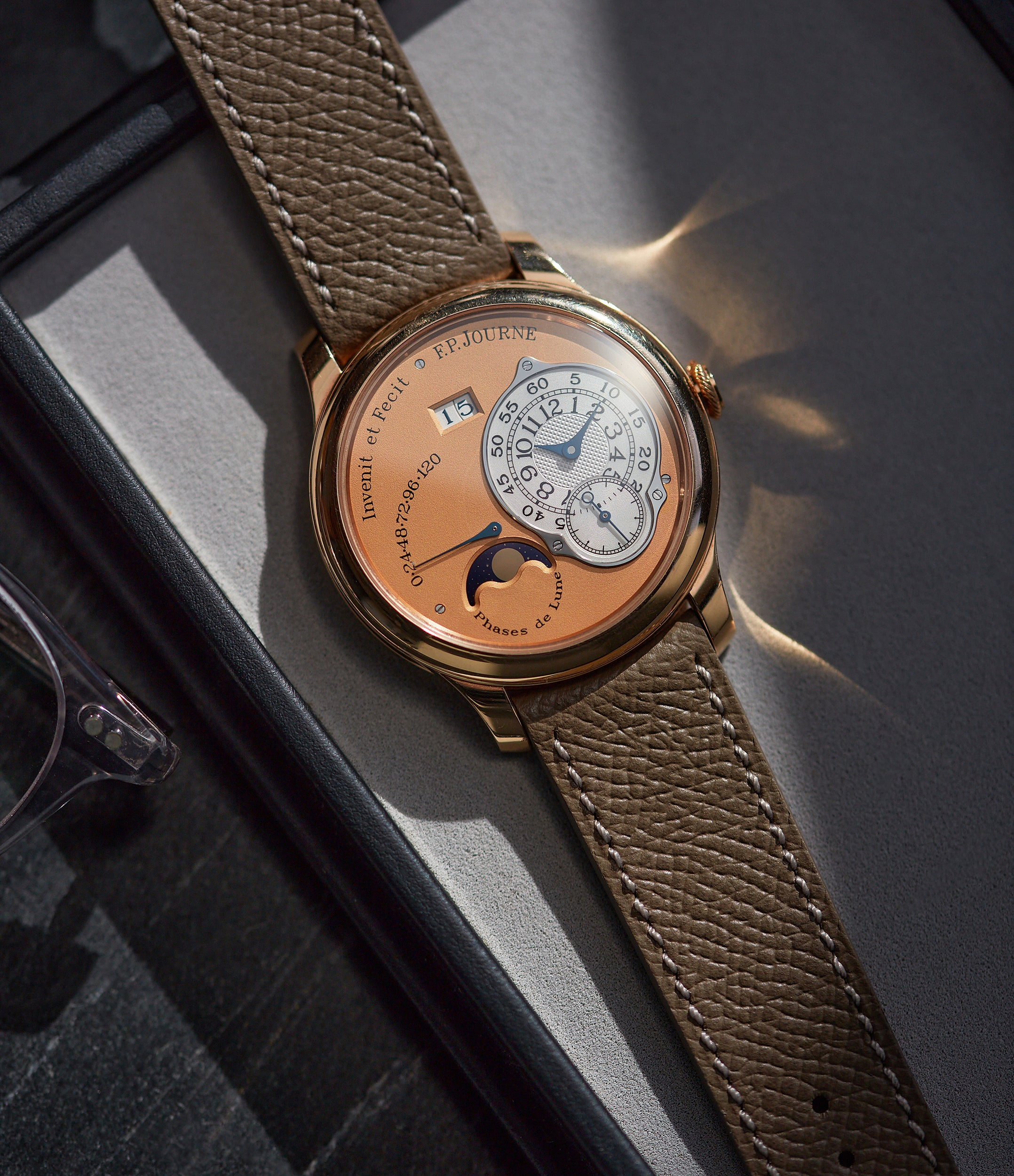 F. P. Journe Octa Lune rose gold dial rare pre-owned watch independent watchmaker for sale online A Collected Man London
