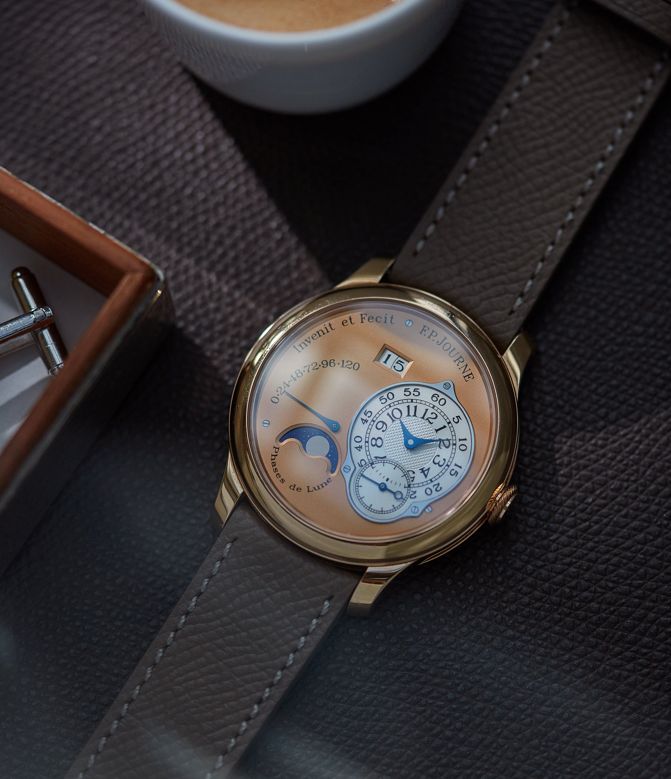 independent watchmaker F. P. Journe Octa Lune rose gold dial rare pre-owned watch independent watchmaker for sale online A Collected Man London