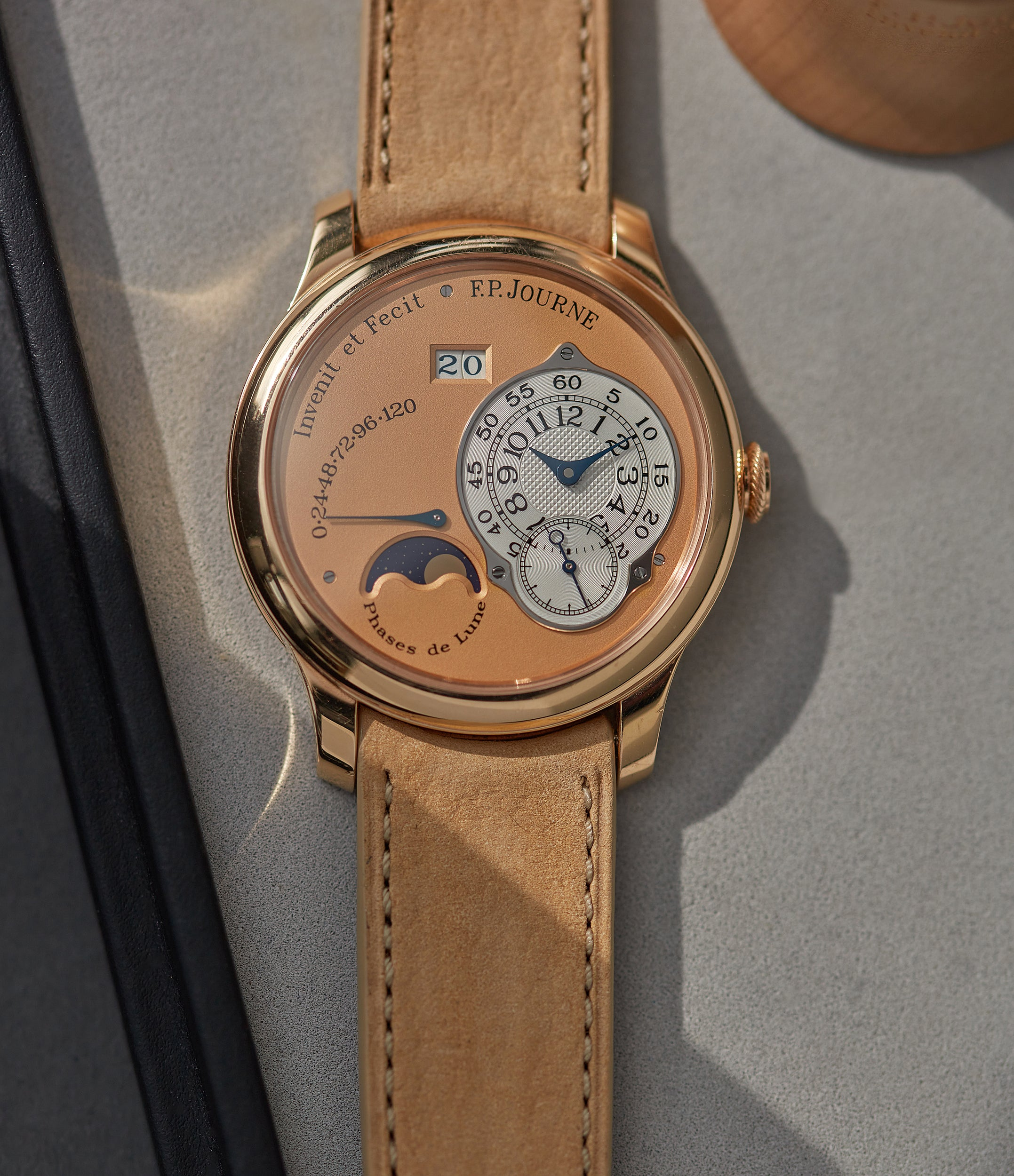 selling F. P. Journe Octa Lune rose gold dial rare pre-owned watch independent watchmaker for sale online A Collected Man London