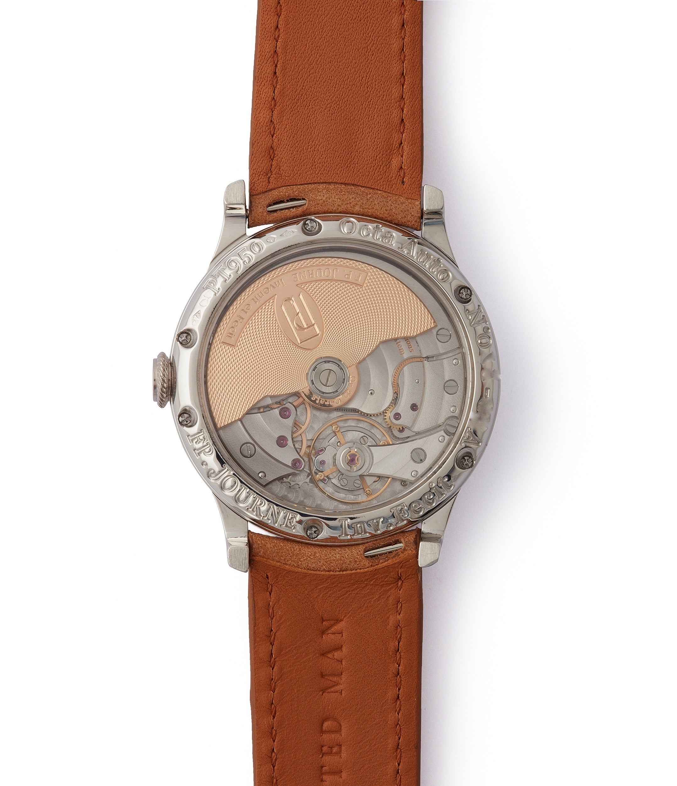 early brass movement F.P. Journe Octa Reserve de Marche 38mm platinum dress watch for sale online at A Collected Man London UK specialist of independent watchmakers