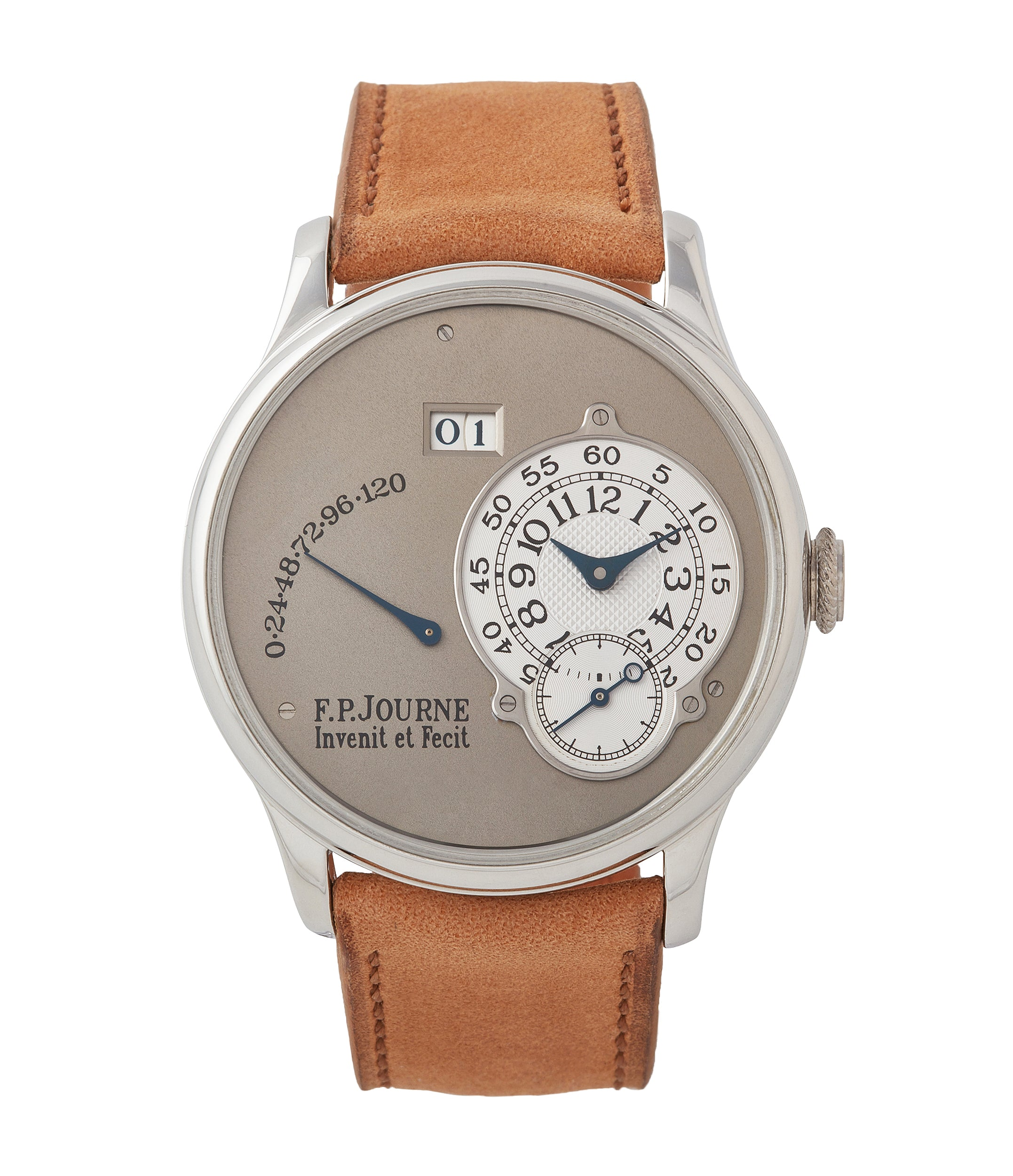 buy F.P. Journe Octa Reserve de Marche 38mm platinum brass movement dress watch for sale online at A Collected Man London UK specialist of independent watchmakers