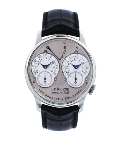 buy F. P. Journe Resonance rare brass movement twin-barrel guilloche dial automatic watch for sale online at A Collected Man London specialist of independent watchmakers