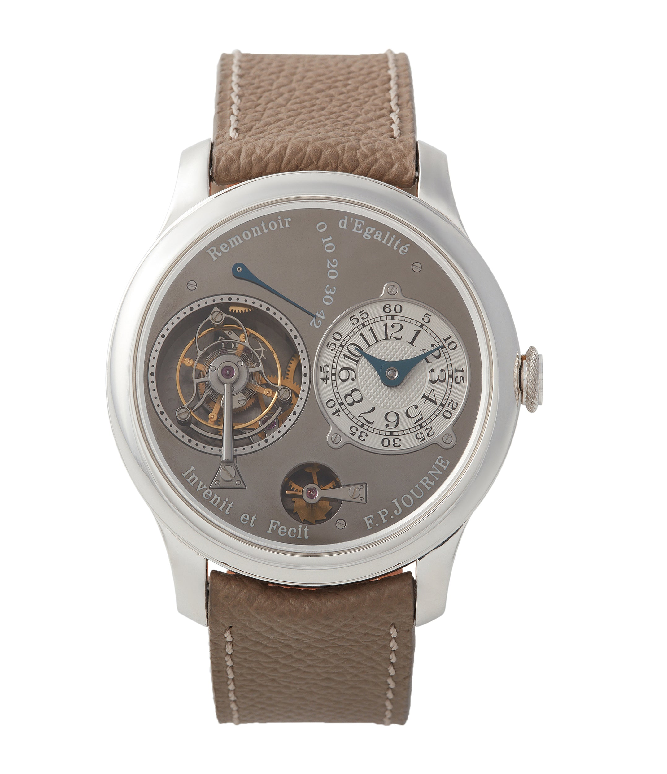 Buy F. P. Journe Tourbillon Remontoire Souverain rhutenium dial brass movement pre-owned watch at A Collected Man London specialist independent watchmakers