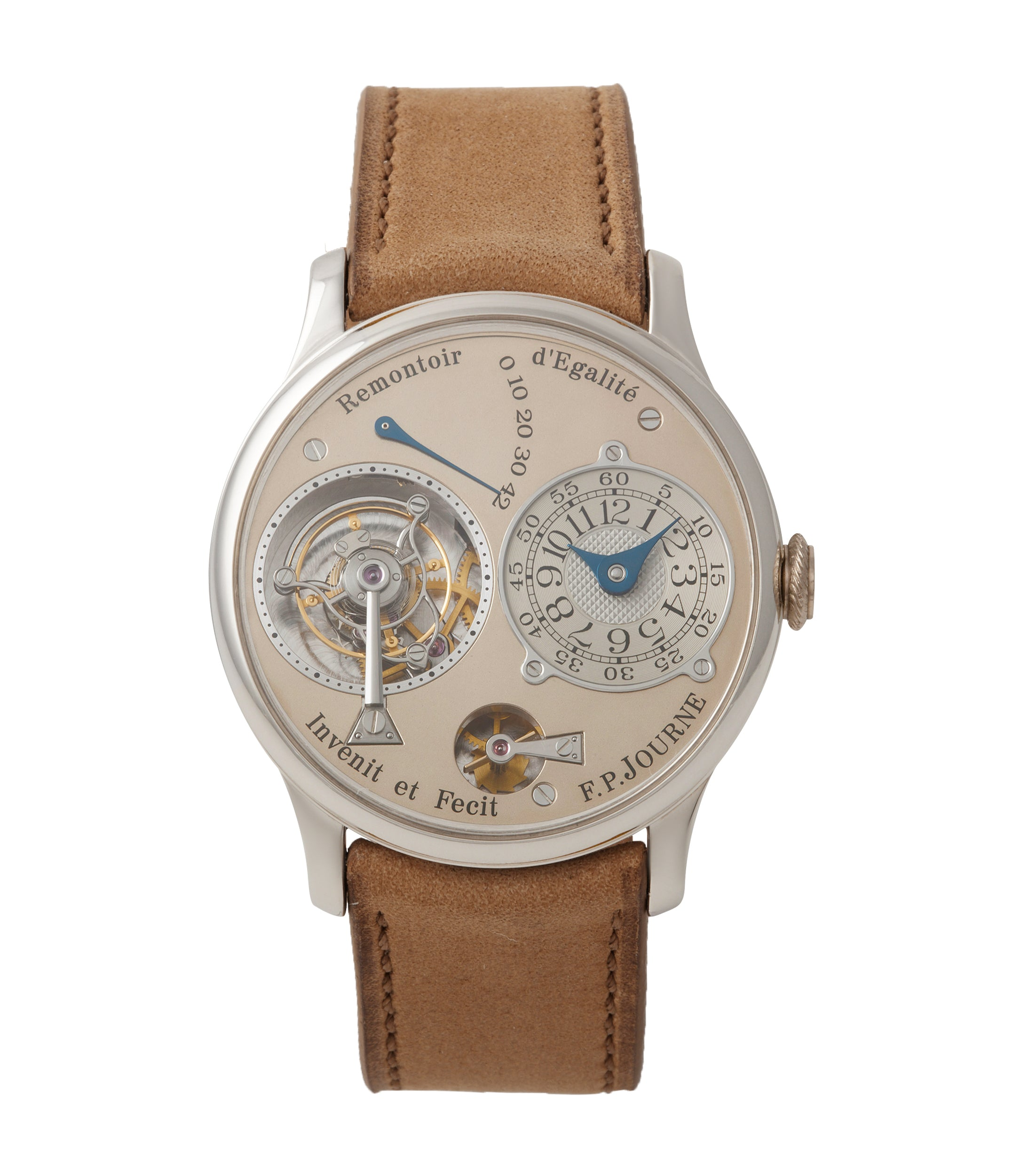buy early F. P. Journe Chronometre A Tourbillon early brass movement 38mm platinum dress watch for sale online A Collected Man London specialist independent watchmakers
