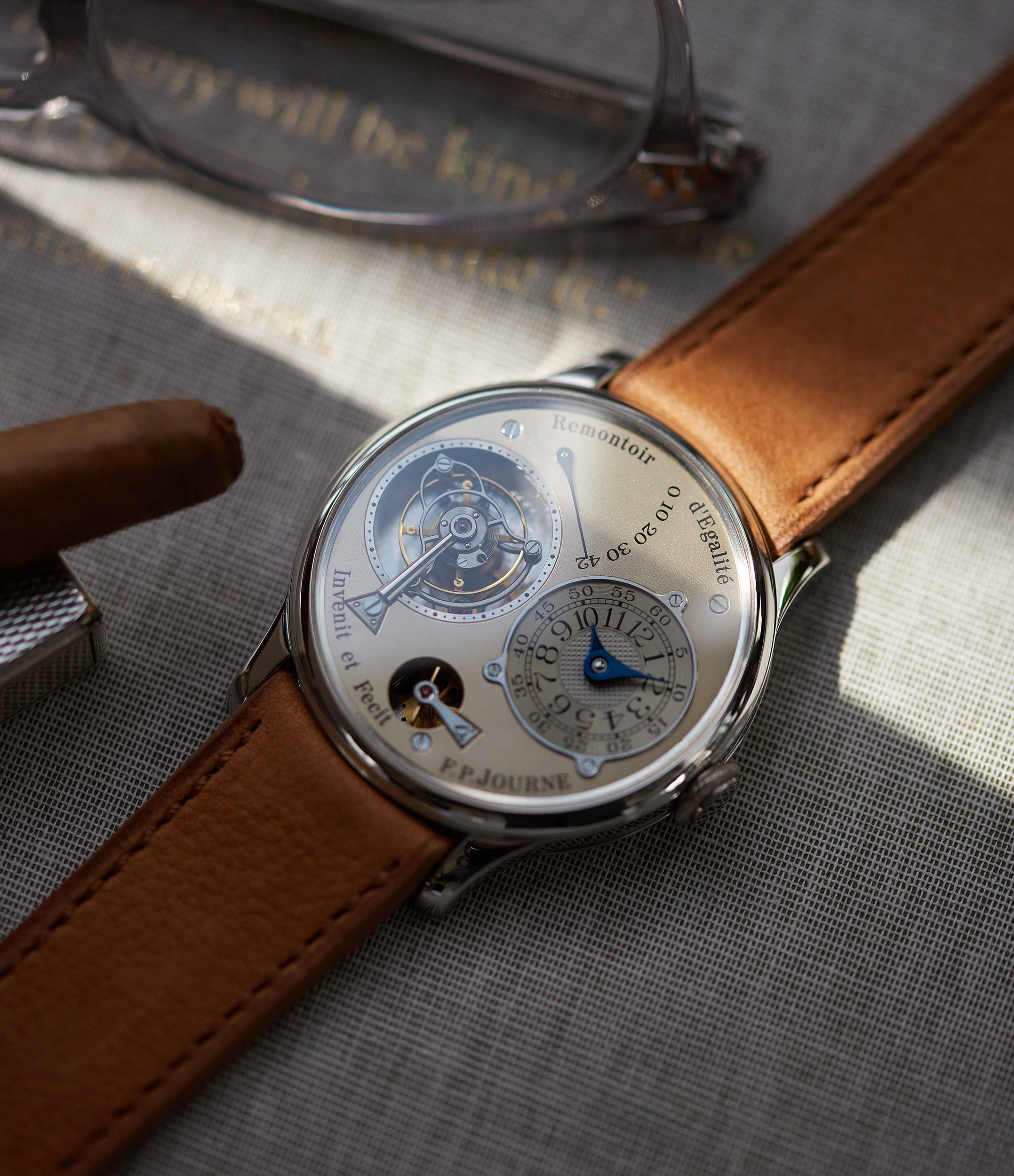 selling F. P. Journe Chronometre A Tourbillon early brass movement 38mm platinum dress watch for sale online A Collected Man London specialist independent watchmakers