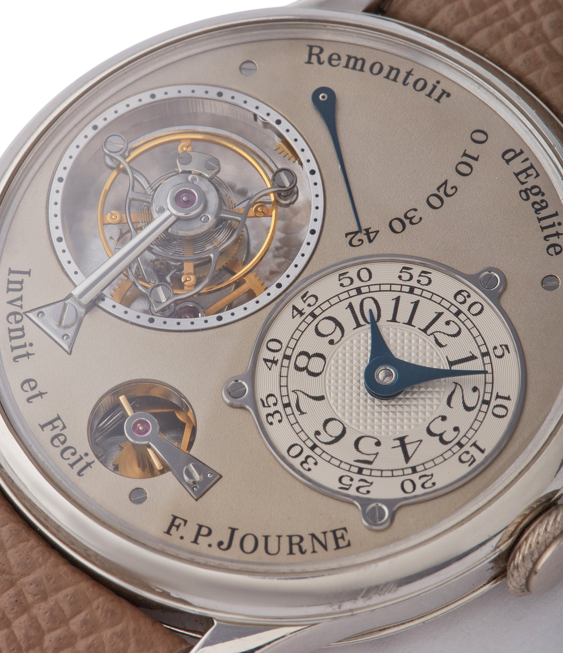 early dial F. P. Journe Tourbillon 38mm brass movement pre-owned rare watch independent watchmaker for sale A Collected Man London specialist rare wristwatches