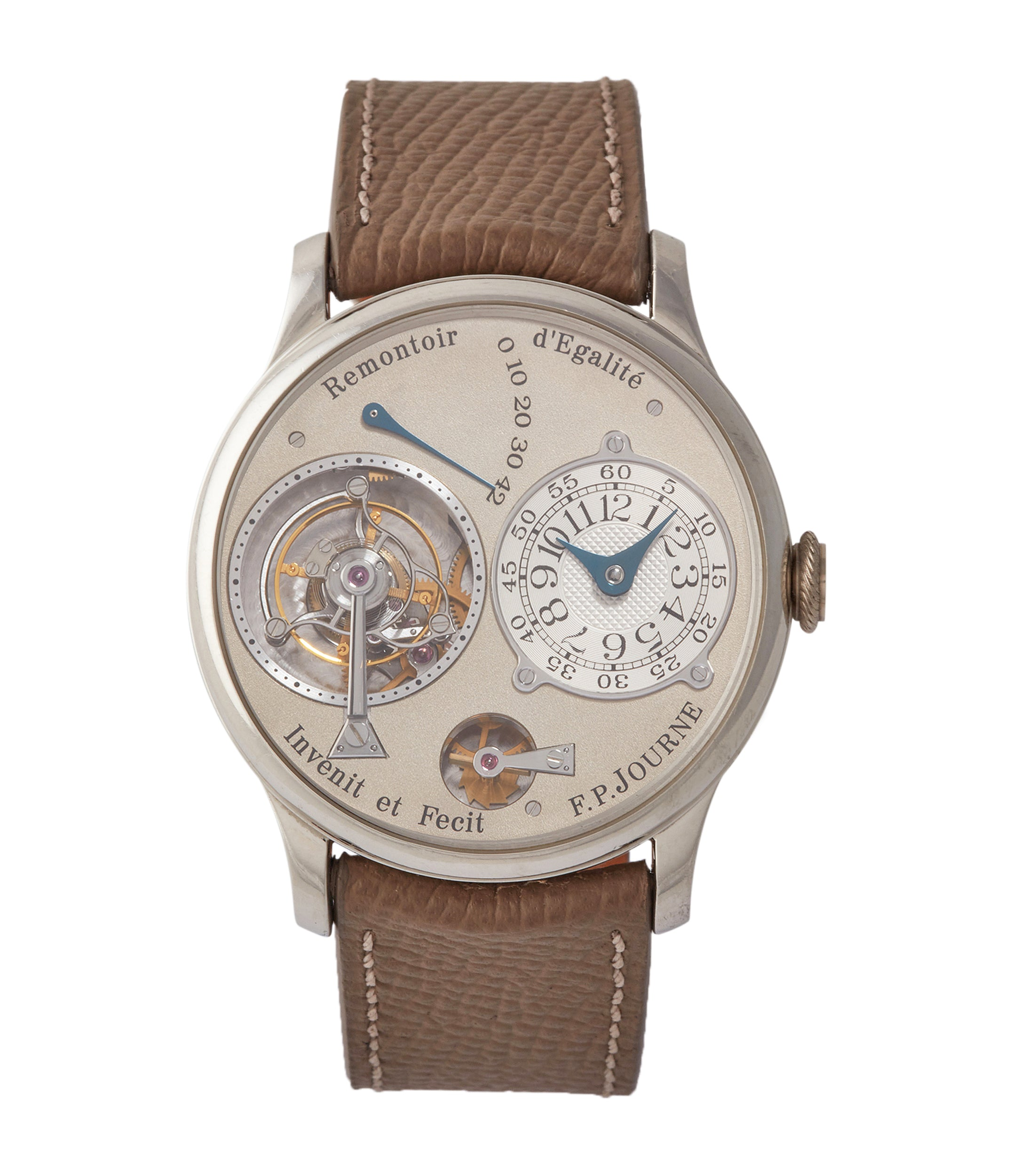 buy F. P. Journe Tourbillon 38mm brass movement pre-owned rare watch independent watchmaker for sale A Collected Man London specialist rare wristwatches
