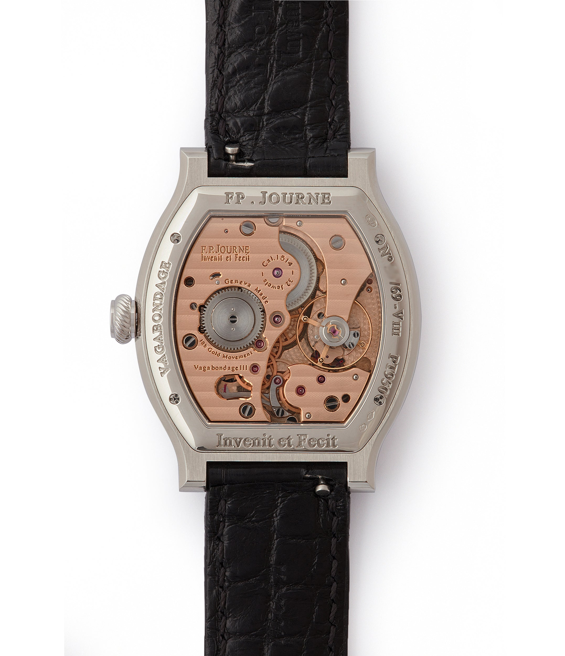 1-minute remontoire F. P. Journe Vagabondage 3 jumping hours seconds Limited edition of 69 platinum rare watch from 2018 for sale online at A Collected Man London UK specialist of independent watchmakers