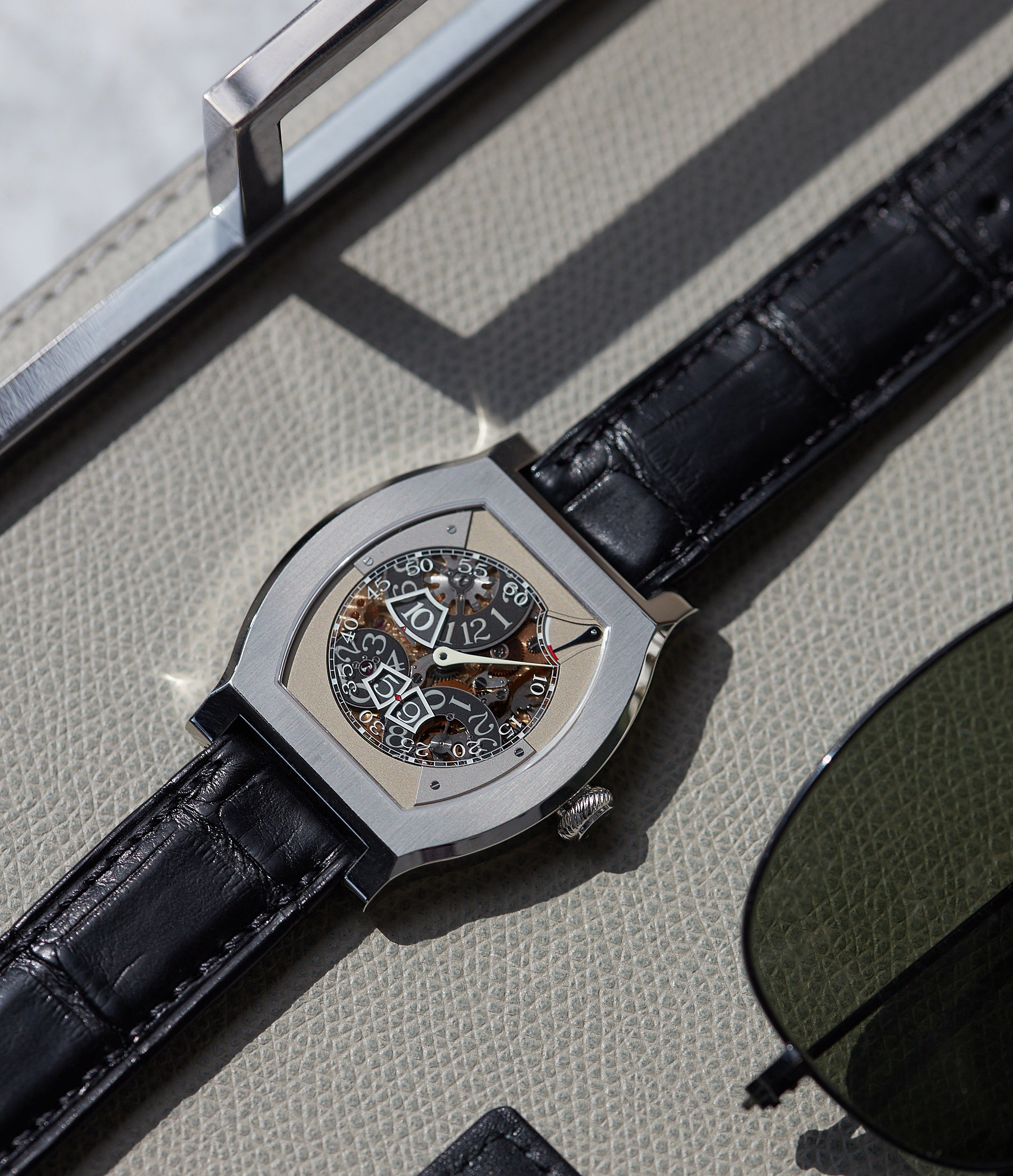 rare F. P. Journe Vagabondage 3 jumping hours seconds Limited edition of 69 platinum watch from 2018 for sale online at A Collected Man London UK specialist of independent watchmakers