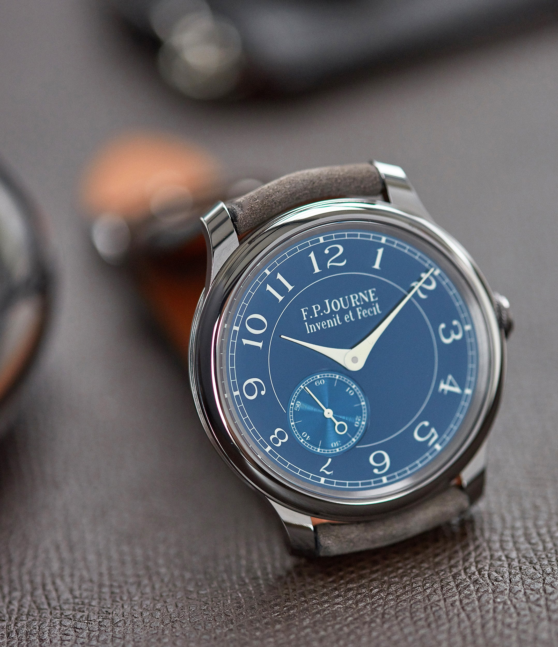 Journe Chronometre Bleu tantalum blue dial rare dress watch for sale online at A Collected Man London approved reseller of independent watchmakers