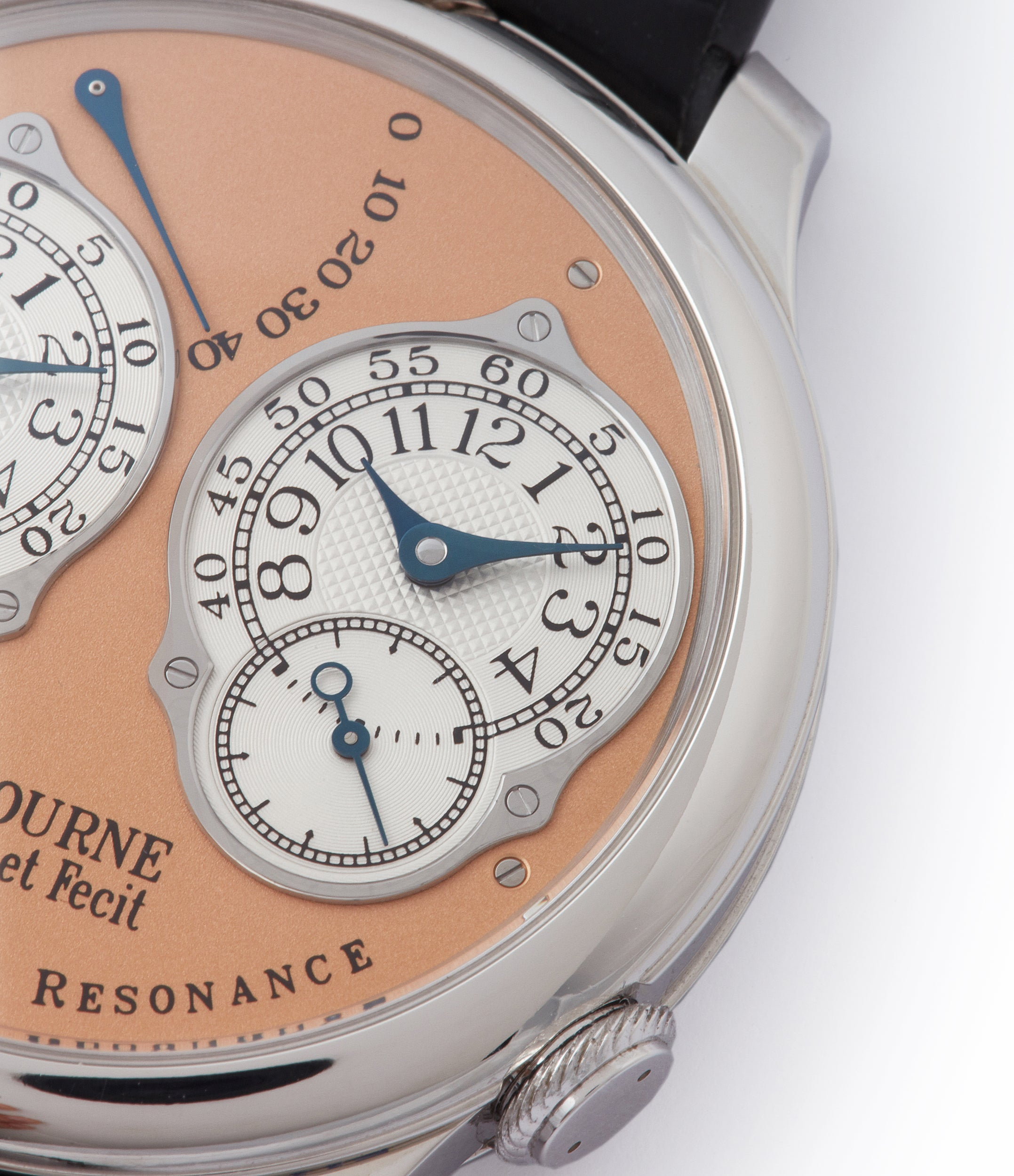 collect F. P. Journe Chronometre a Resonance platinum watch gold movement for sale online at A Collected Man London Uk specialist of independent watchmakers