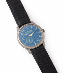 selling pre-owned F. P. Journe Chronometre Bleu tantalum blue dial rare dress watch for sale online at A Collected Man London approved reseller of independent watchmakers
