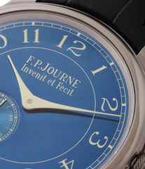 pre-owned blue F. P. Journe Chronometre Bleu tantalum rare dress watch for sale online at A Collected Man London approved reseller of independent watchmakers