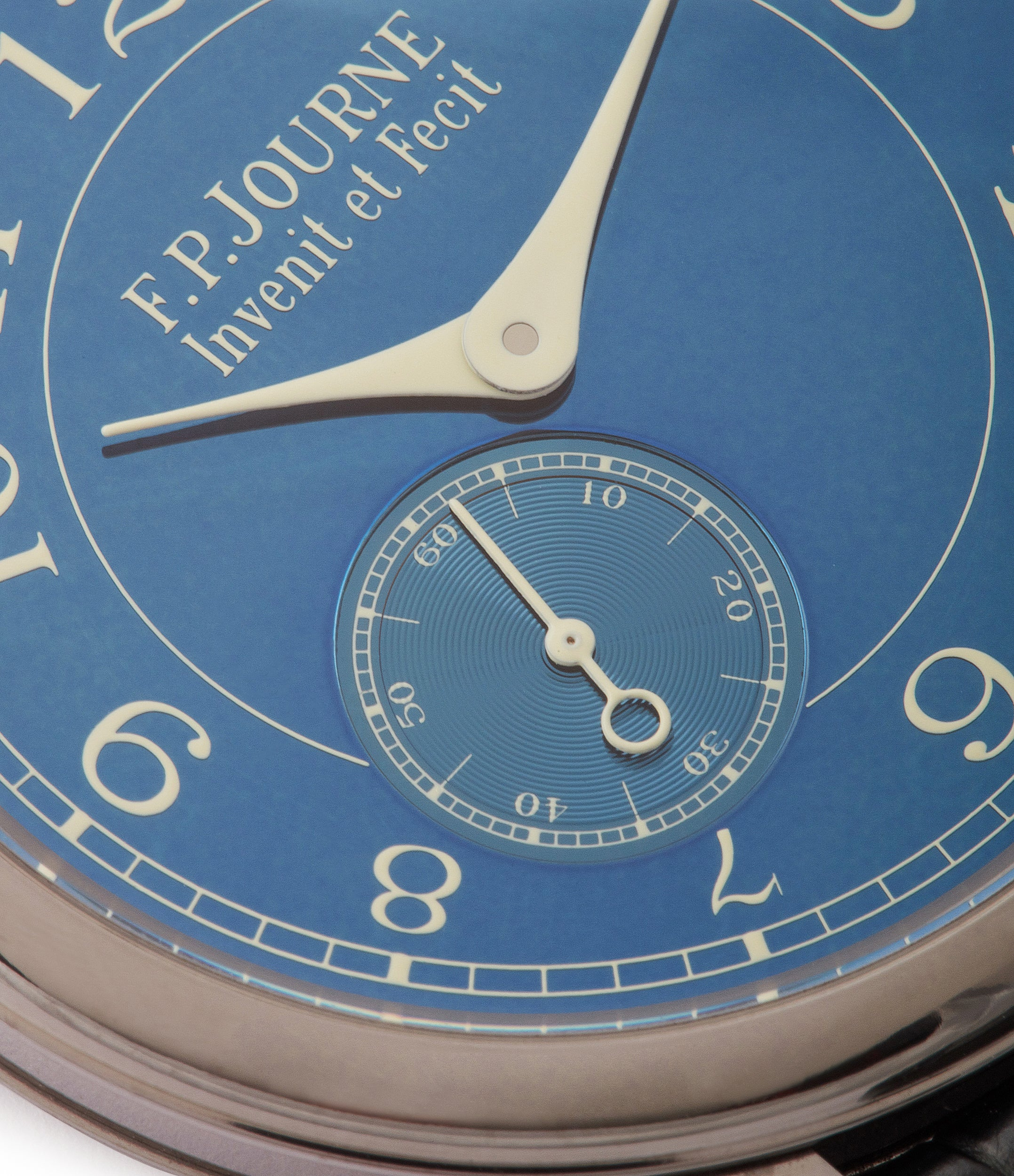 pre-owned tantalum F. P. Journe Chronometre Bleu blue dial rare dress watch for sale online at A Collected Man London approved reseller of independent watchmakers