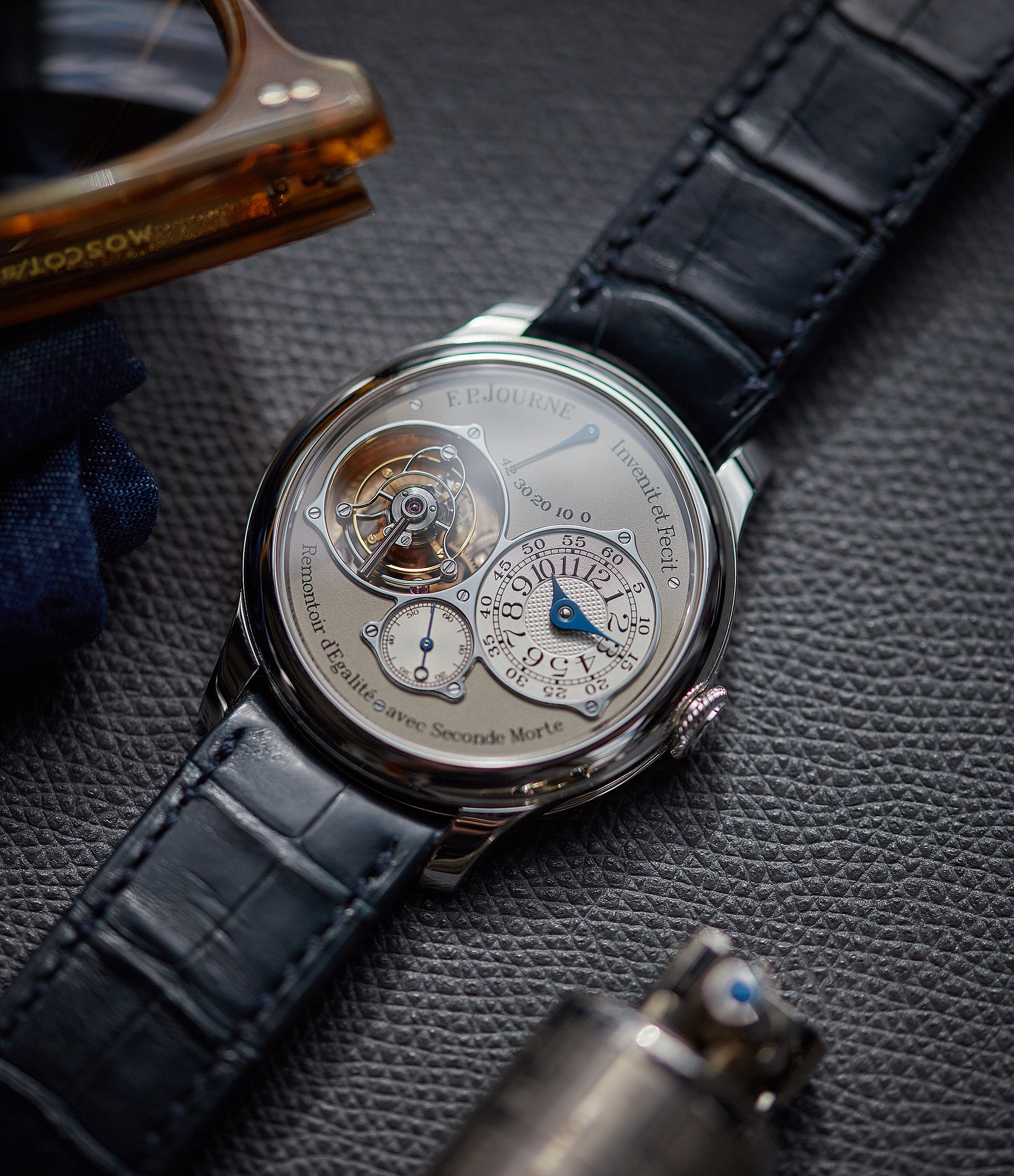 selling F. P. Journe Tourbillon Souverain TN dead-beat seconds 40mm platinum pre-owned watch for sale online at A Collected Man London UK specialist of rare watches