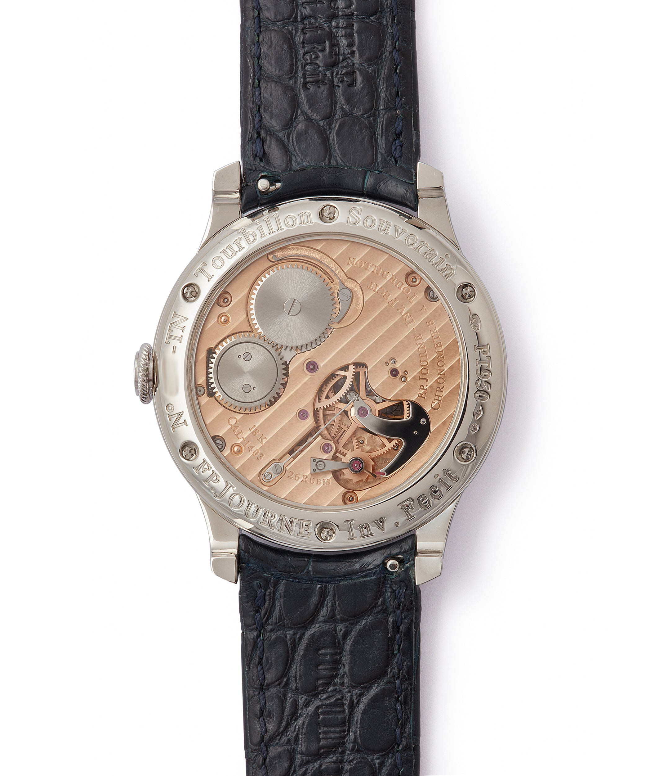 Cal. 1403 F. P. Journe Tourbillon Souverain TN dead-beat seconds 40mm platinum pre-owned watch for sale online at A Collected Man London UK specialist of rare watches