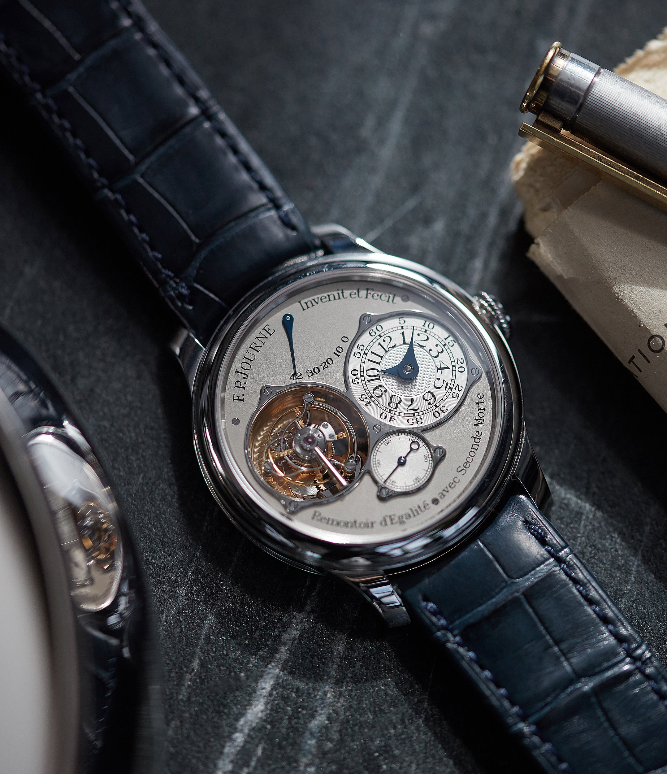 40mm F. P. Journe Tourbillon Souverain TN dead-beat seconds platinum pre-owned watch for sale online at A Collected Man London UK specialist of rare watches