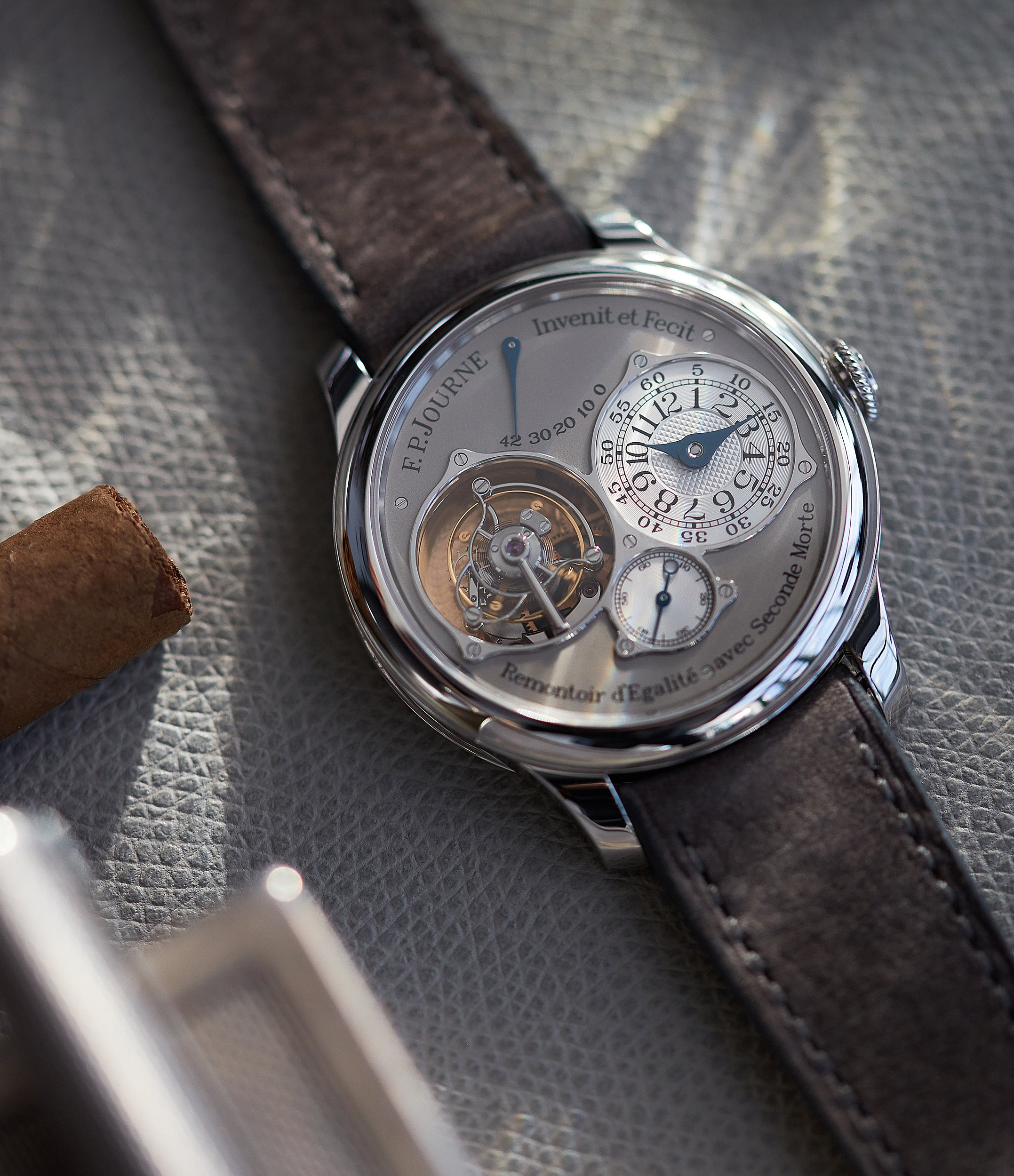 F. P. Journe Tourbillon Souverain TN dead-beat seconds 40mm platinum pre-owned watch for sale online at A Collected Man London UK specialist of rare watches
