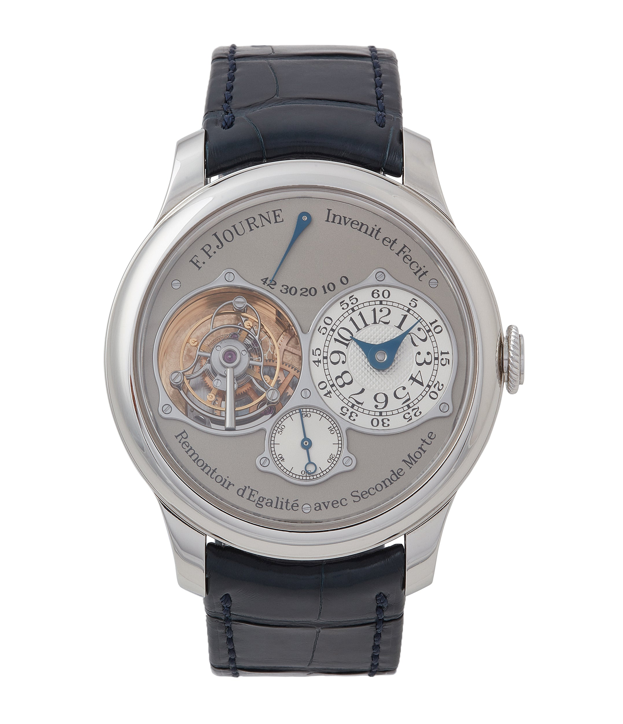buy F. P. Journe Tourbillon Souverain TN dead-beat seconds 40mm platinum pre-owned watch for sale online at A Collected Man London UK specialist of rare watches