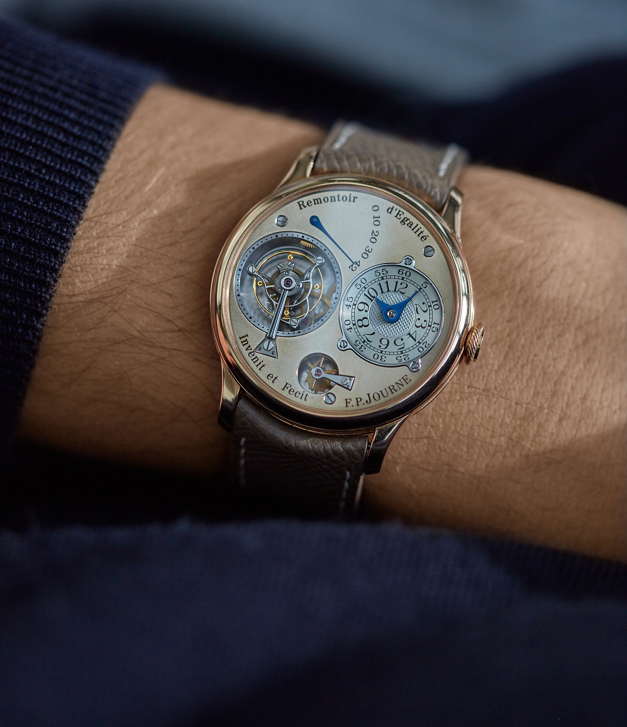 Tourbillon Souverain | brass movement | rose gold