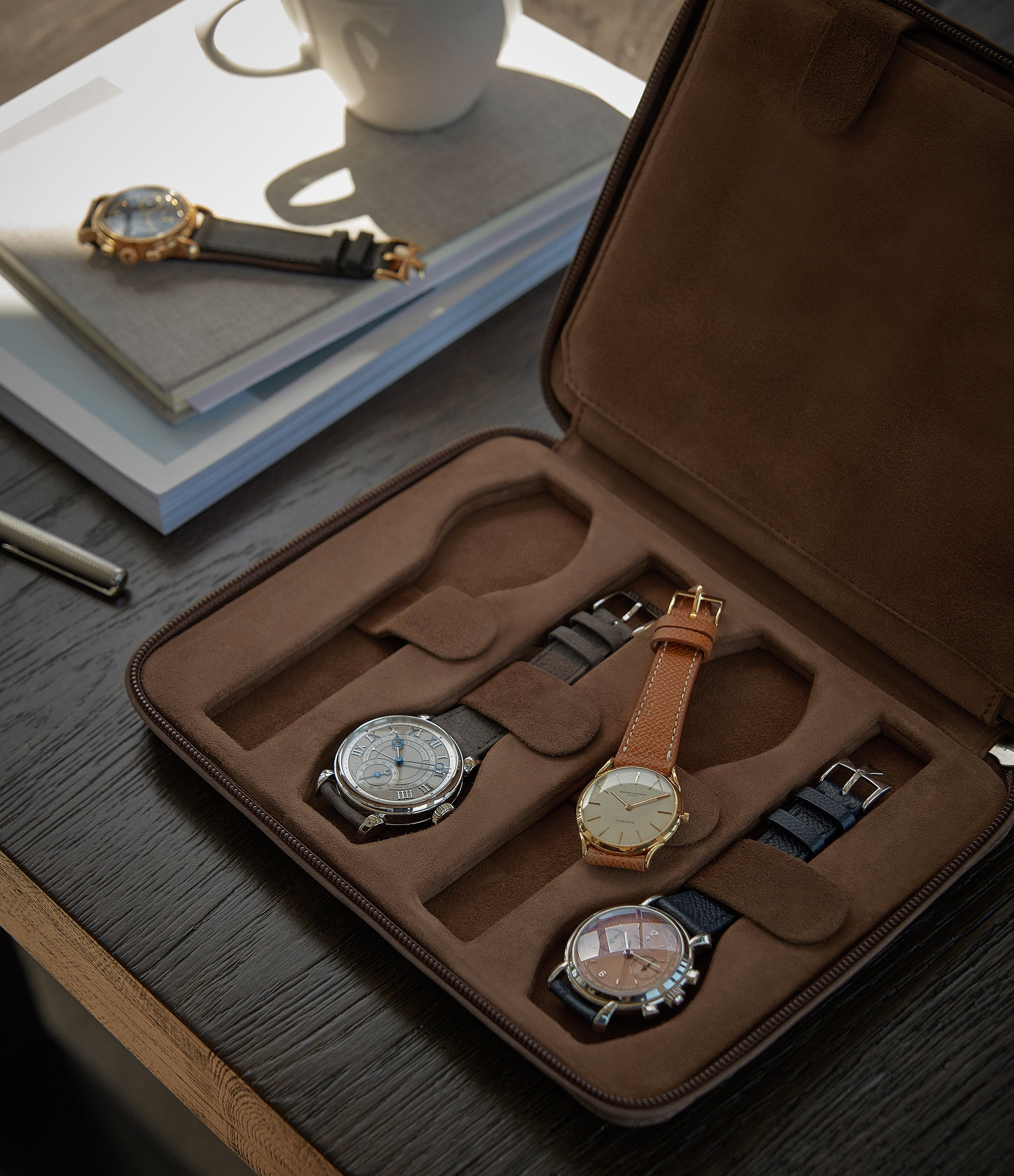 brown nubuck watch travel zip pouch accessories eight watches order online A Collected Man London