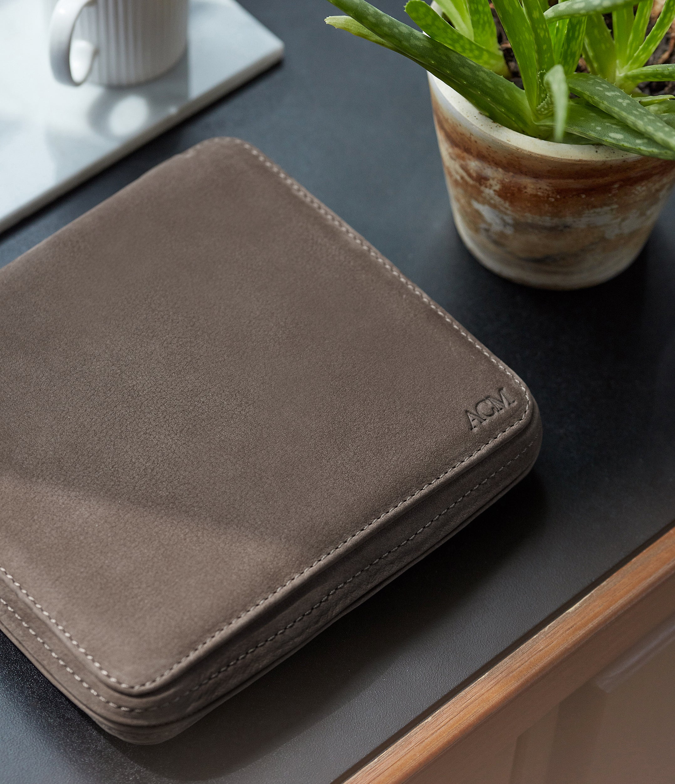 six-watch taupe nubuck watch travel zip pouch holder 6 watches order online A Collected Man London