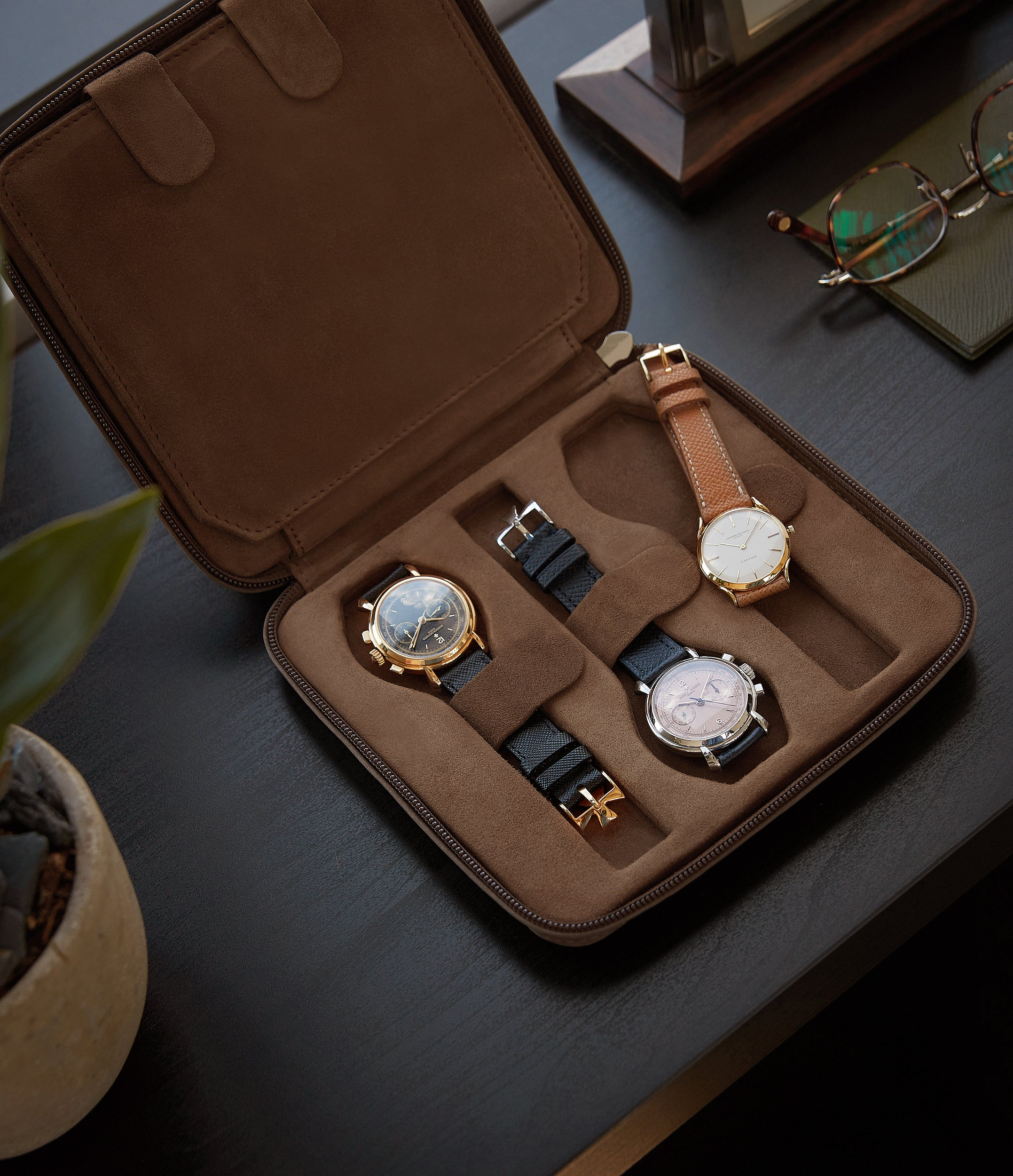 brown nubuck watch travel zip pouch accessories six watches order online A Collected Man London