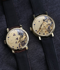 co-axial escapement movements Roger W. Smith George Daniels Anniversary watch independent watchmaker yellow gold rare watch for sale online WATCH XCHANGE London with signed papers