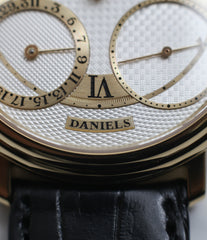 sub-registers George Daniels Anniversary watch by Roger W. Smith independent watchmaker yellow gold rare watch for sale online WATCH XCHANGE London with signed papers