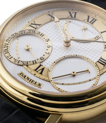 buy George Daniels Anniversary watch by Roger W. Smith independent watchmaker yellow gold rare watch for sale online WATCH XCHANGE London with signed papers