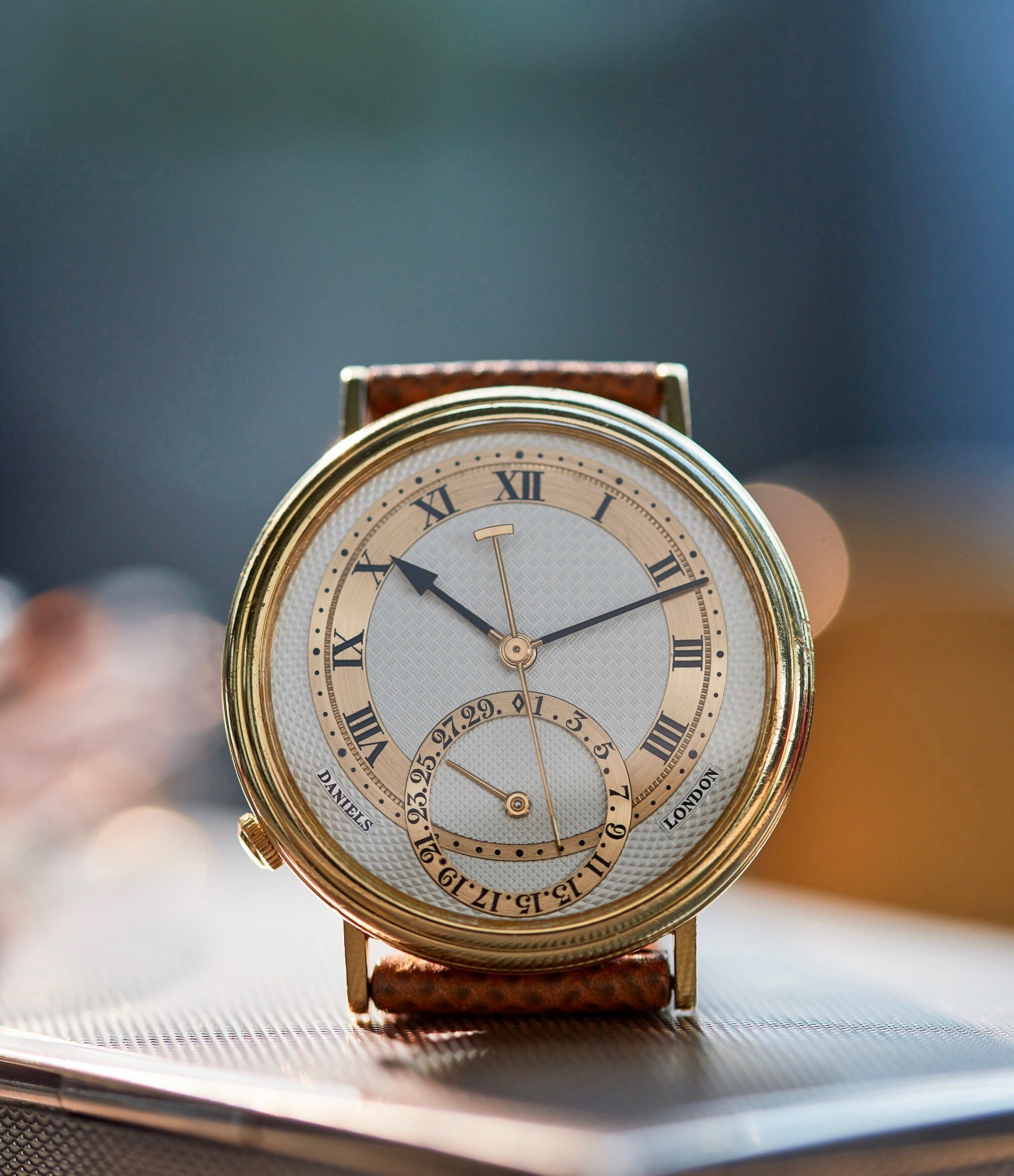 George Daniels Millennium Co-axial yellow gold dress watch for sale online A Collected Man London