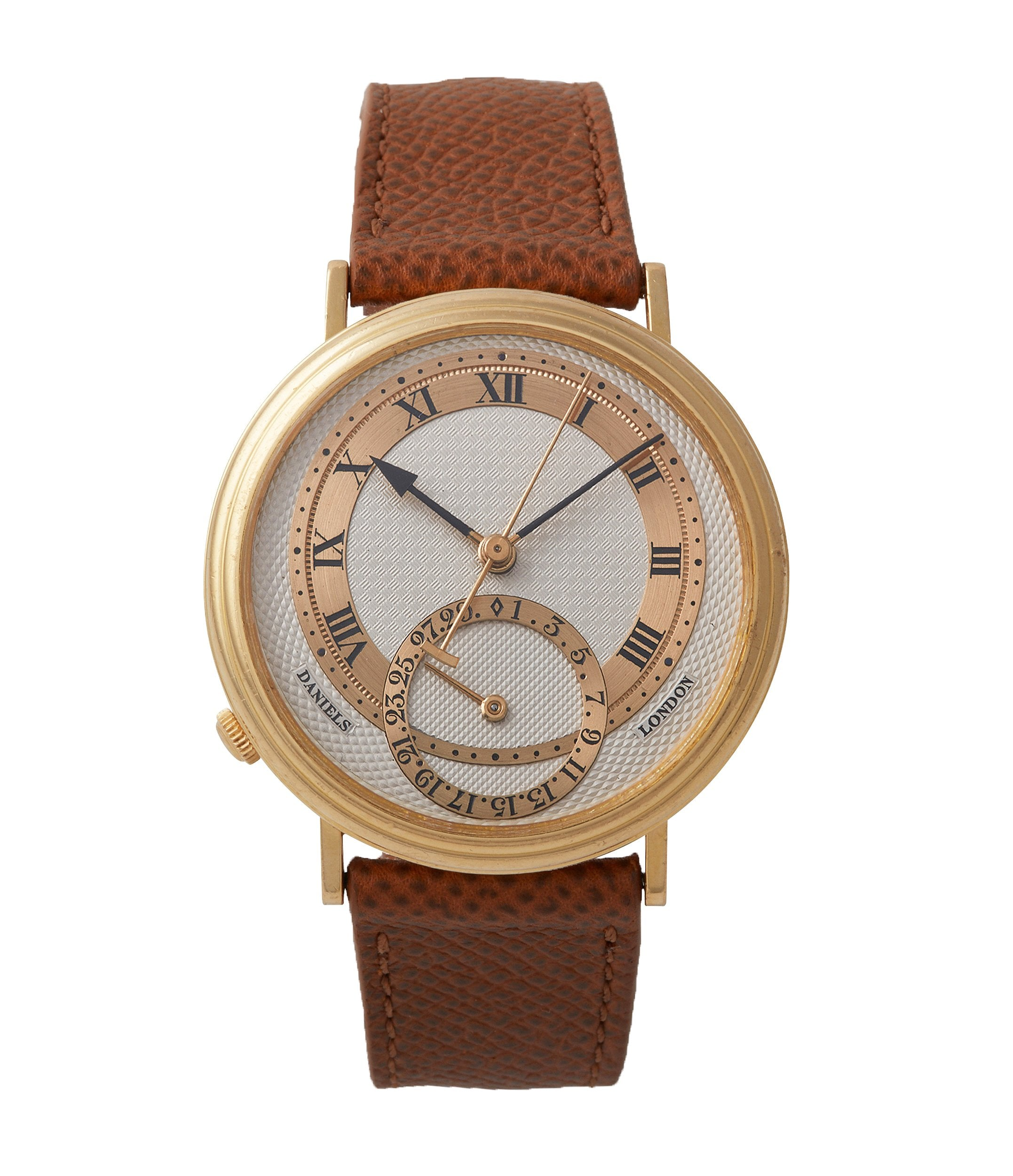 ultra rare wristwatch George Daniels Millennium Co-axial yellow gold dress watch for sale online A Collected Man London