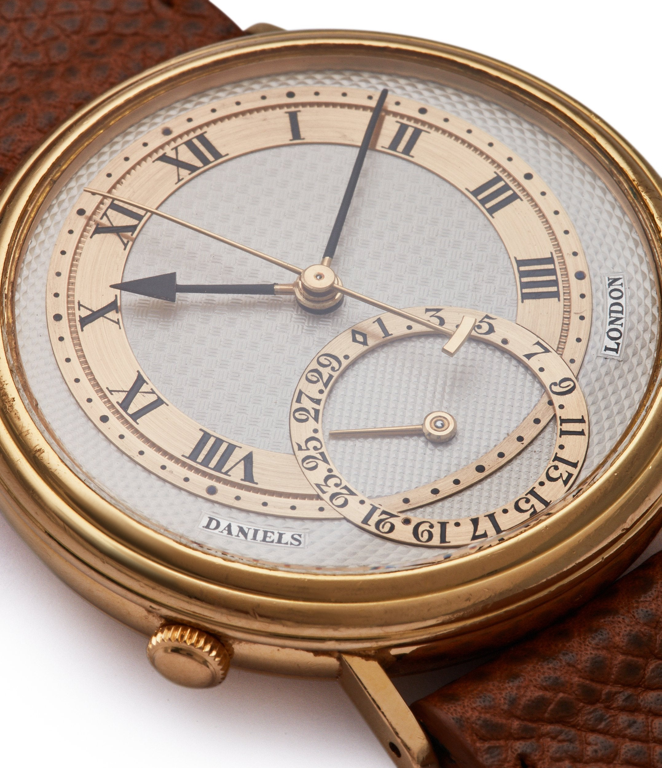 silver dial George Daniels Millennium Co-axial yellow gold dress watch for sale online A Collected Man London