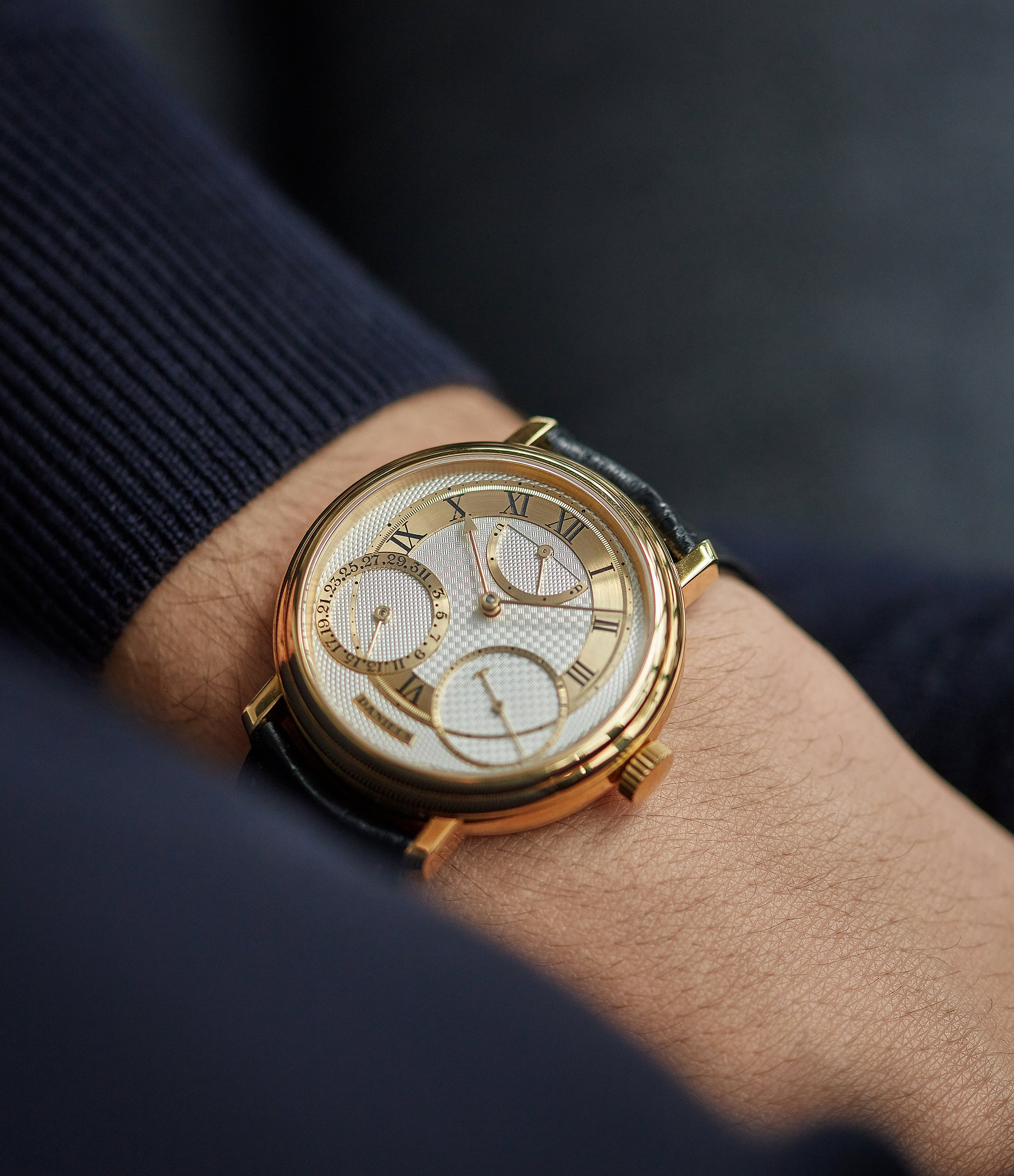find rare George Daniels watch Anniversary collaboration Roger Smith independent watchmaker yellow gold rare watch for sale online A Collected Man London with signed papers