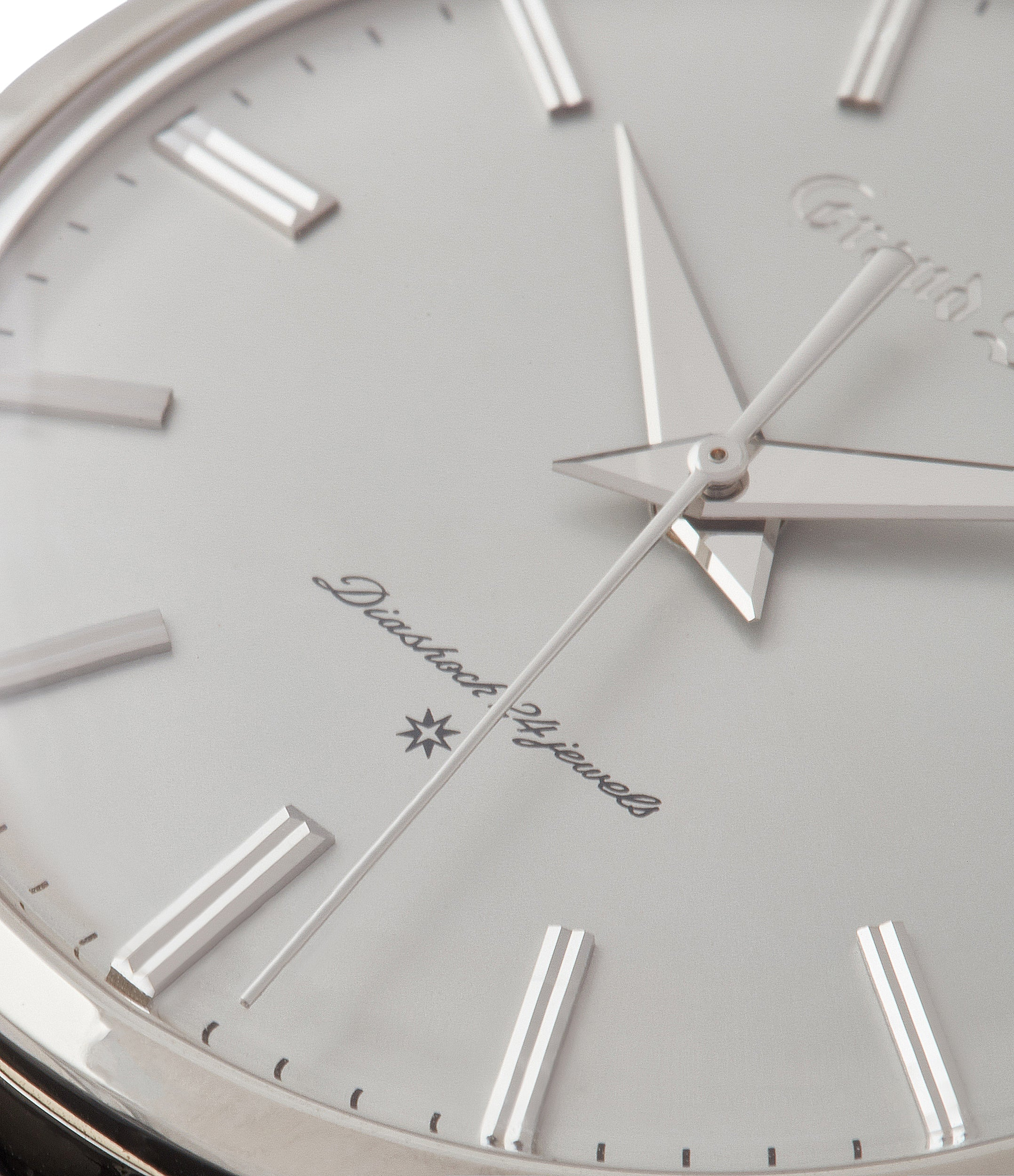 radial brushed solid gold dial Grand Seiko SBGW251 limited edition platinum time-only dress watch Japanese-made full set at A Collected Man London UK specialist of rare watches