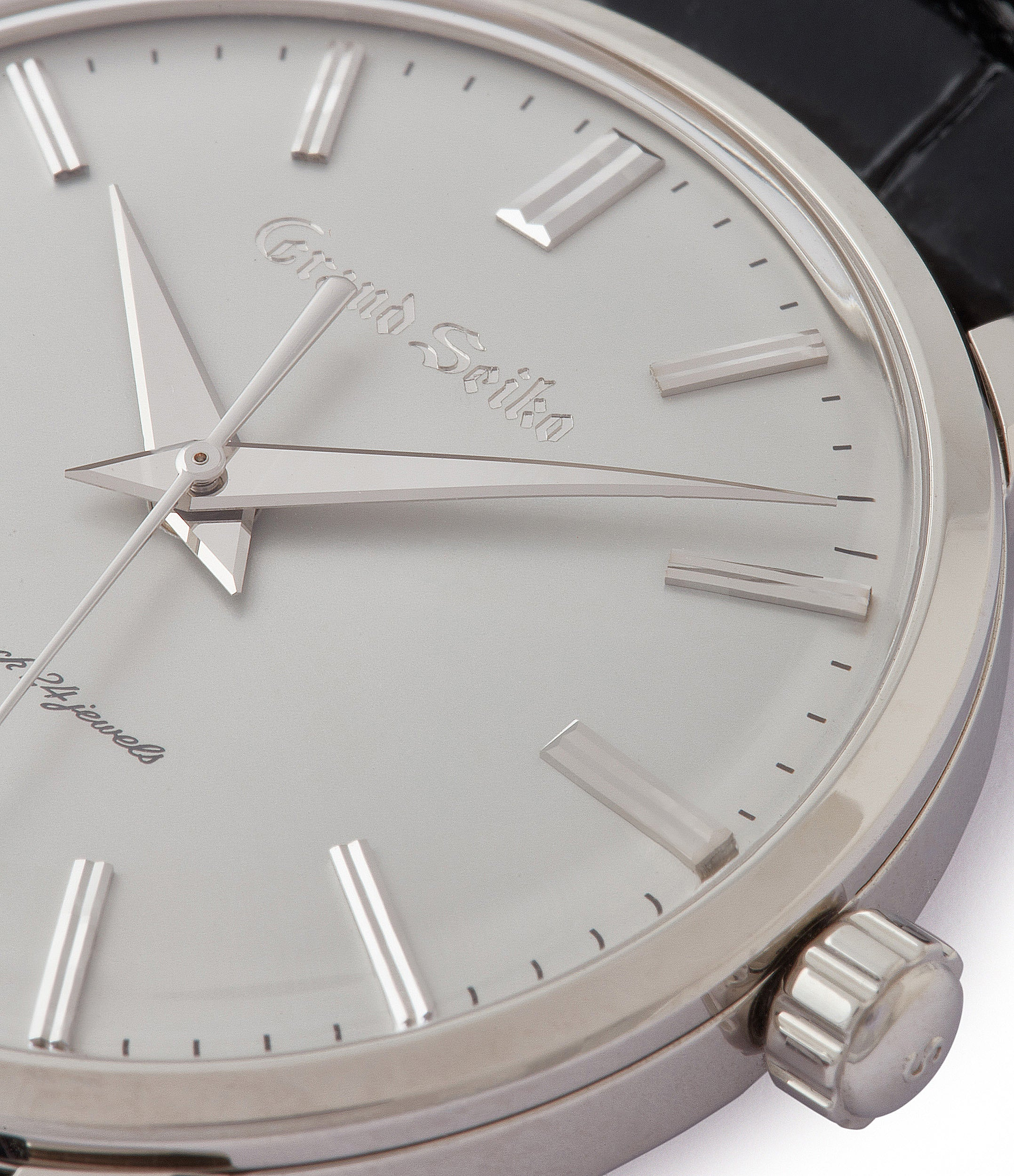steel hands Grand Seiko SBGW251 limited edition platinum time-only dress watch Japanese-made full set at A Collected Man London UK specialist of rare watches