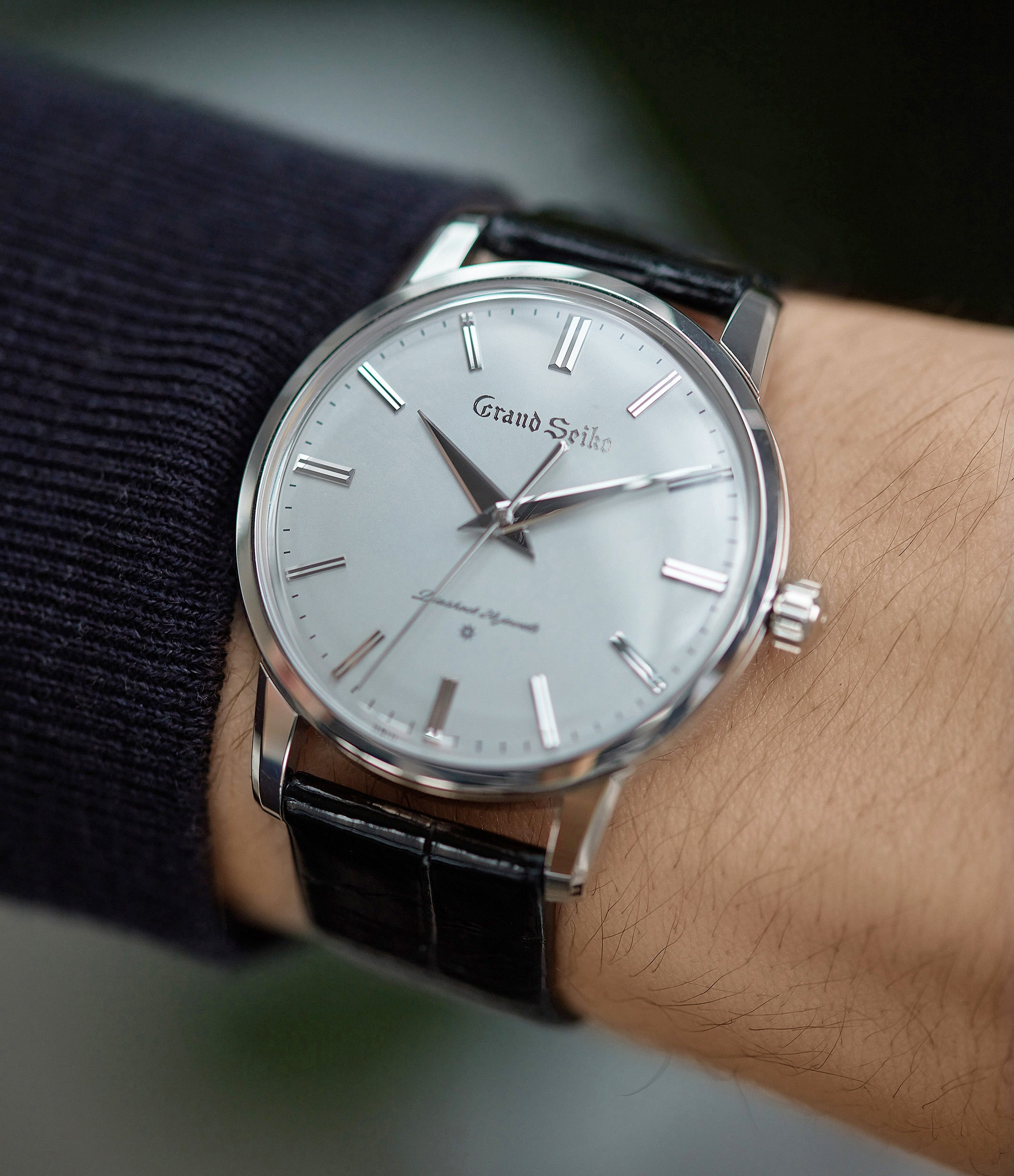 classic dress watch Grand Seiko SBGW251 limited edition platinum time-only dress watch Japanese-made full set at A Collected Man London UK specialist of rare watches
