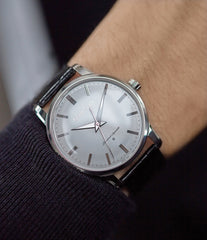 men's luxury dress watch Grand Seiko SBGW251 limited edition platinum time-only dress watch Japanese-made full set at A Collected Man London UK specialist of rare watches