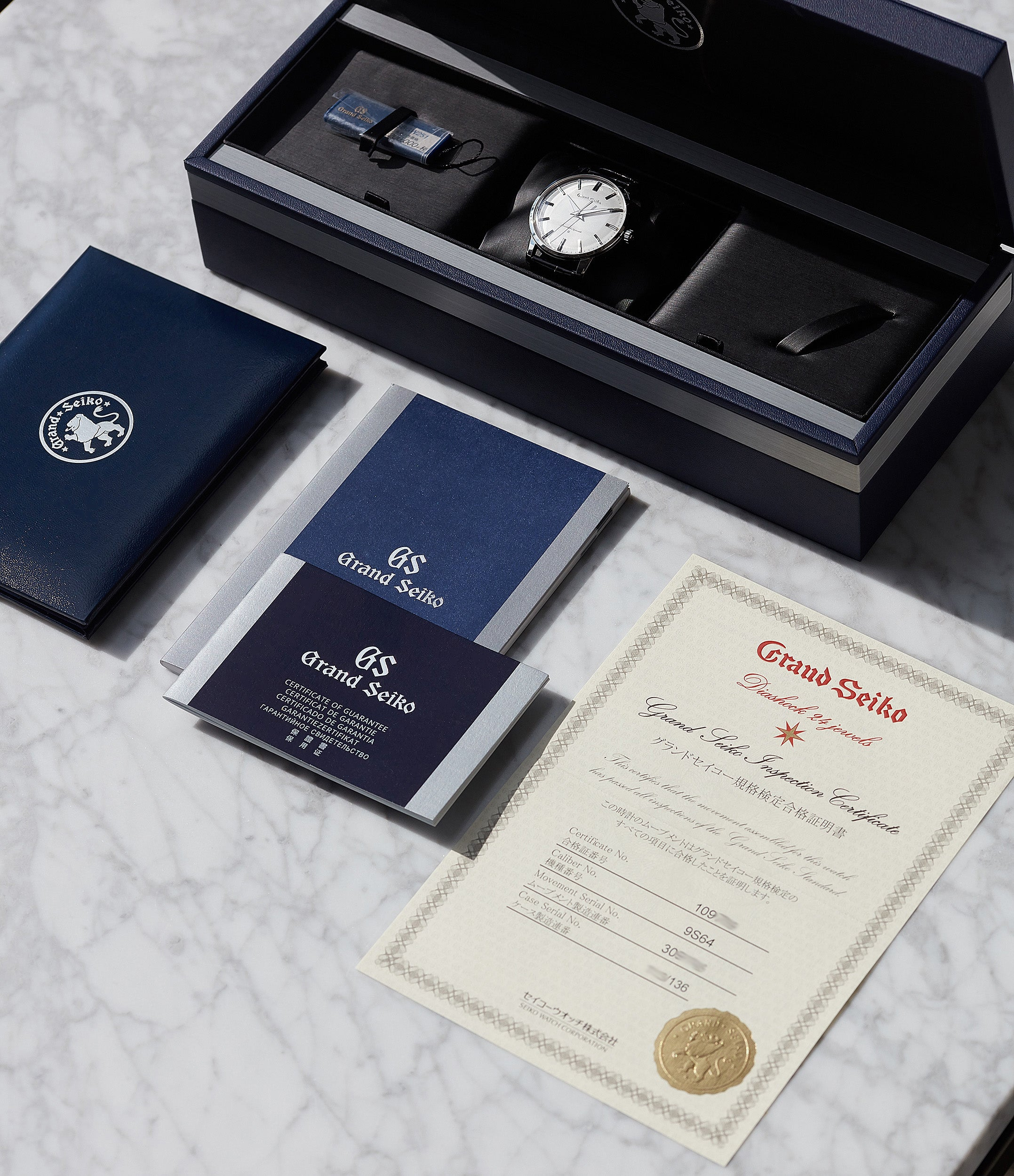 full set Grand Seiko SBGW251 limited edition platinum time-only dress watch Japanese-made full set at A Collected Man London UK specialist of rare watches