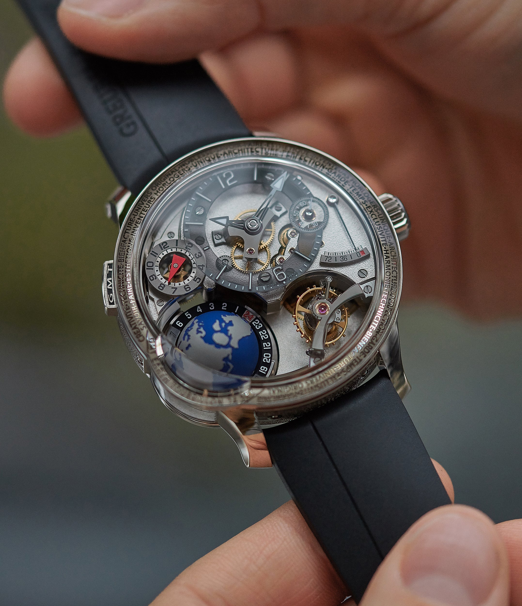 Rare Greubel Forsey with GMT Earth and inclined tourbillon