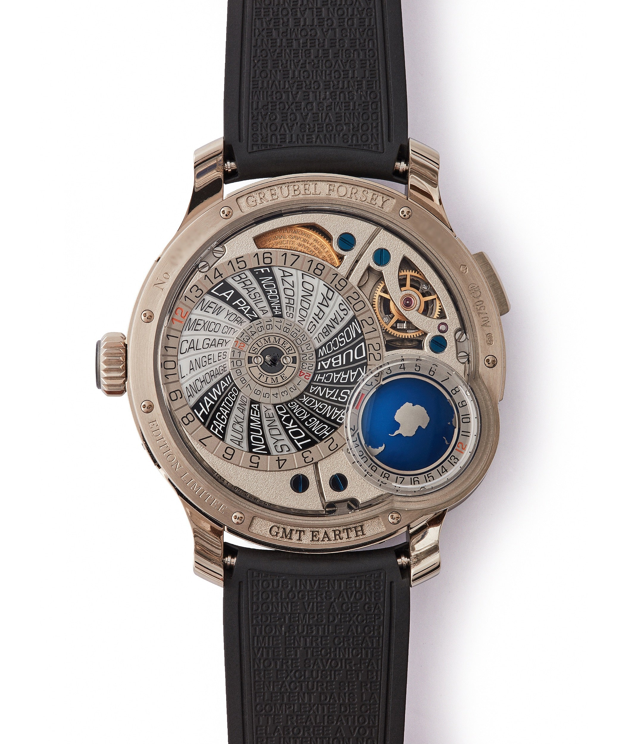 Limited Edition rare Greubel Forsey GMT Earth with inclined Tourbillon