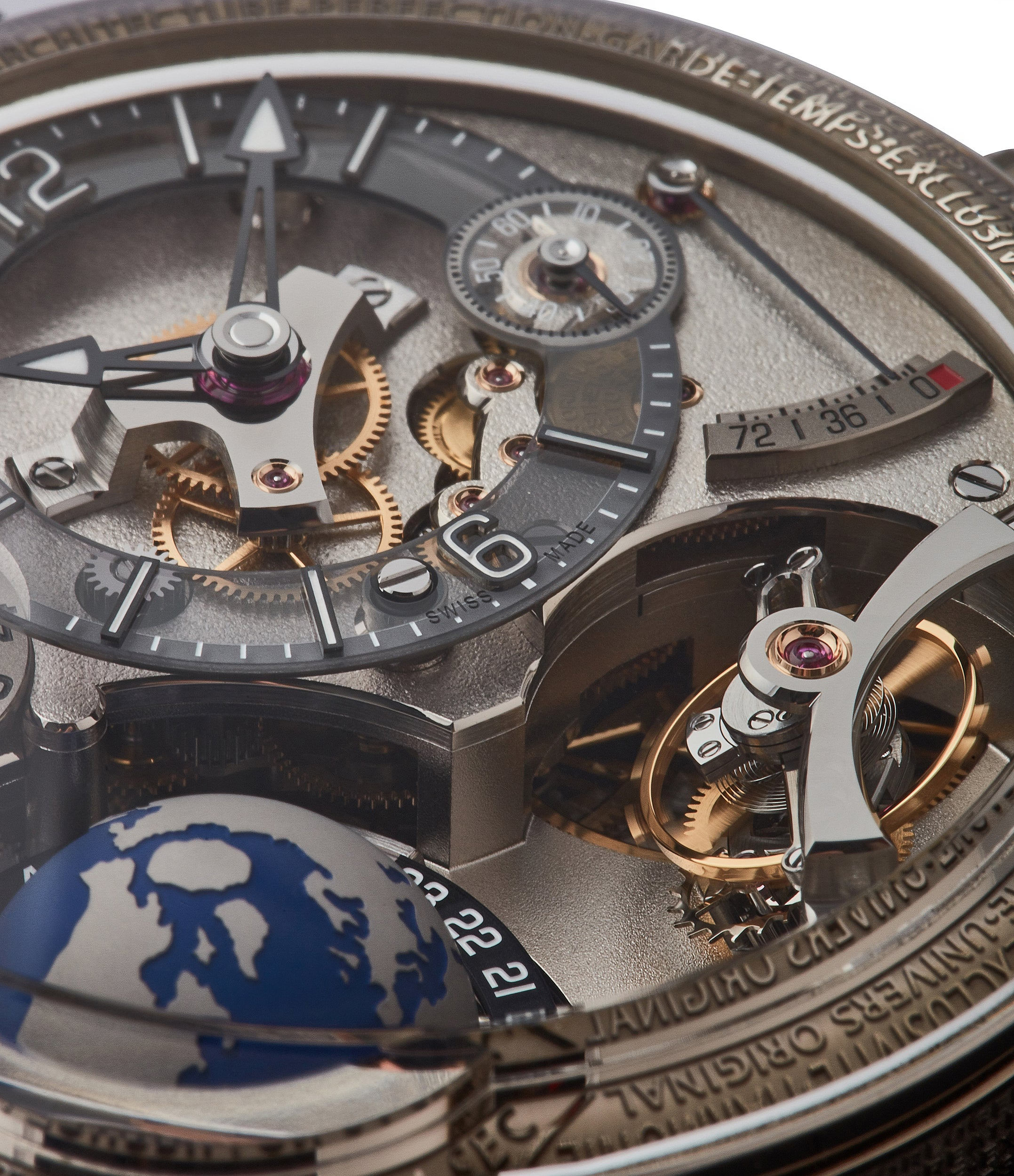 GMT Earth in white gold by Greubel Forsey limited edition rare tourbillon