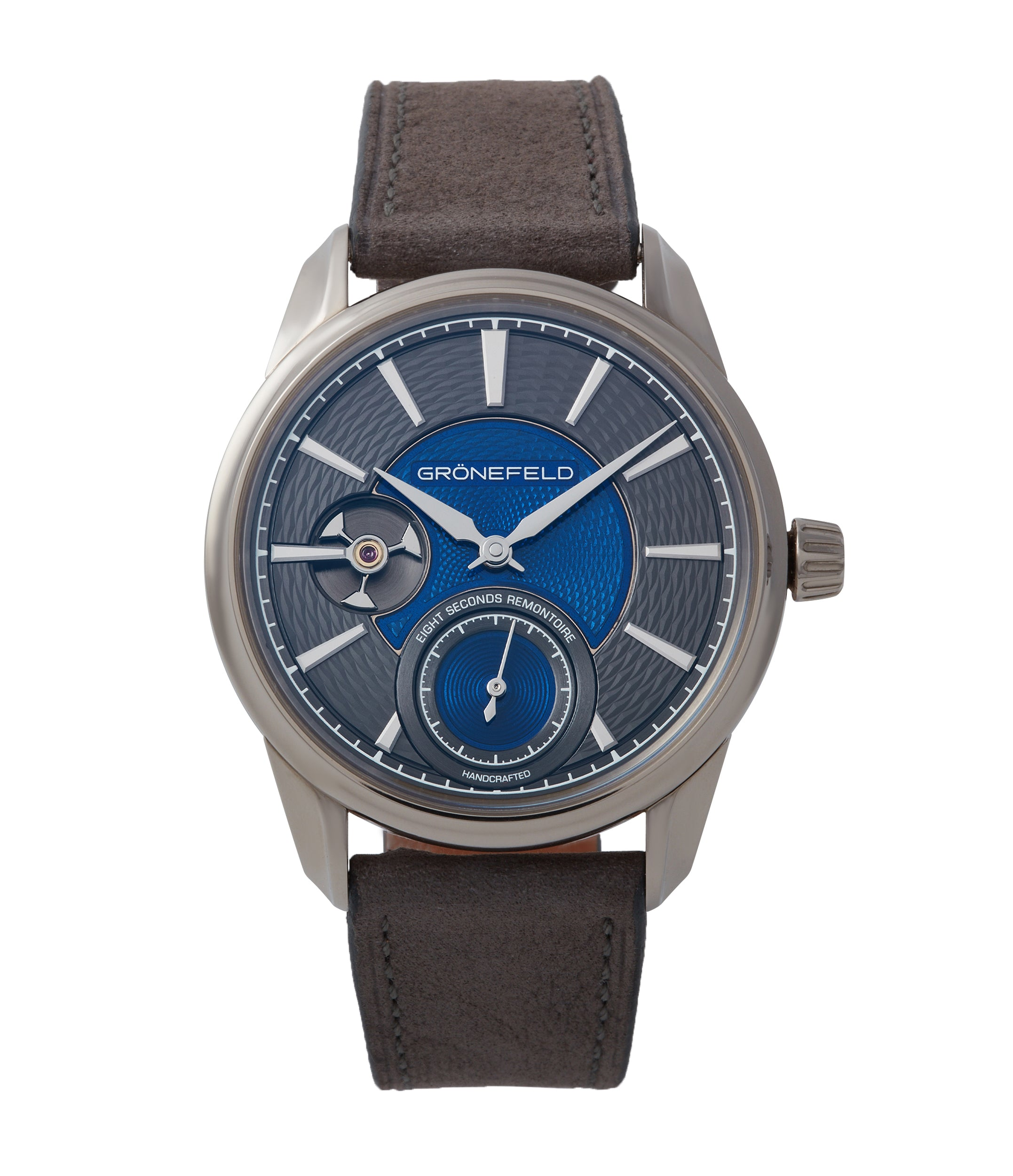 buy Gronefeld 1941 Remontoire blue grey Voutilainen dial pre-owned independent watchmaker for sale online A Collected Man London UK specialist of rare watches