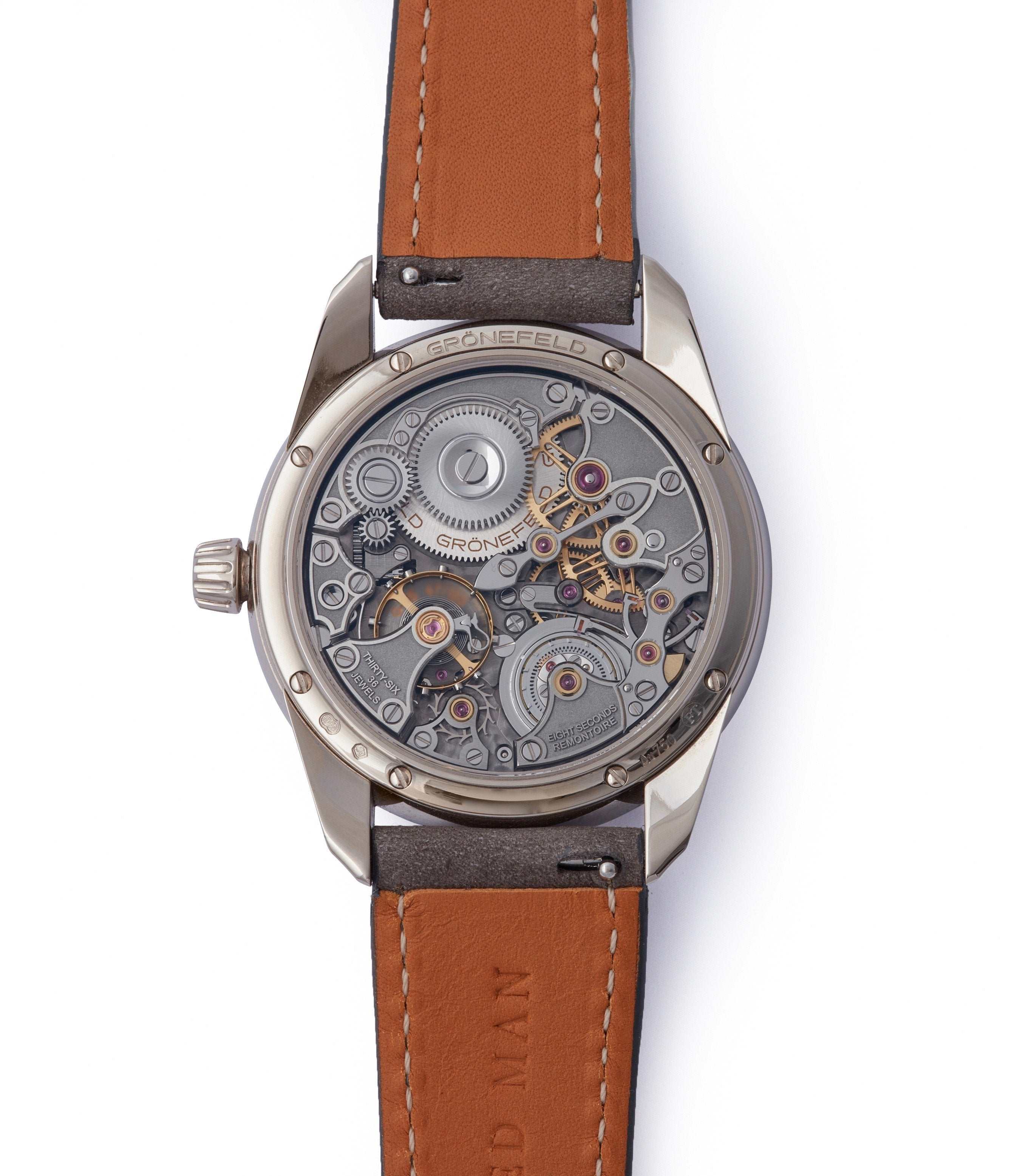 manual-winding Gronefeld 1941 Remontoire blue grey Voutilainen dial pre-owned for sale online A Collected Man London UK specialist of rare watches